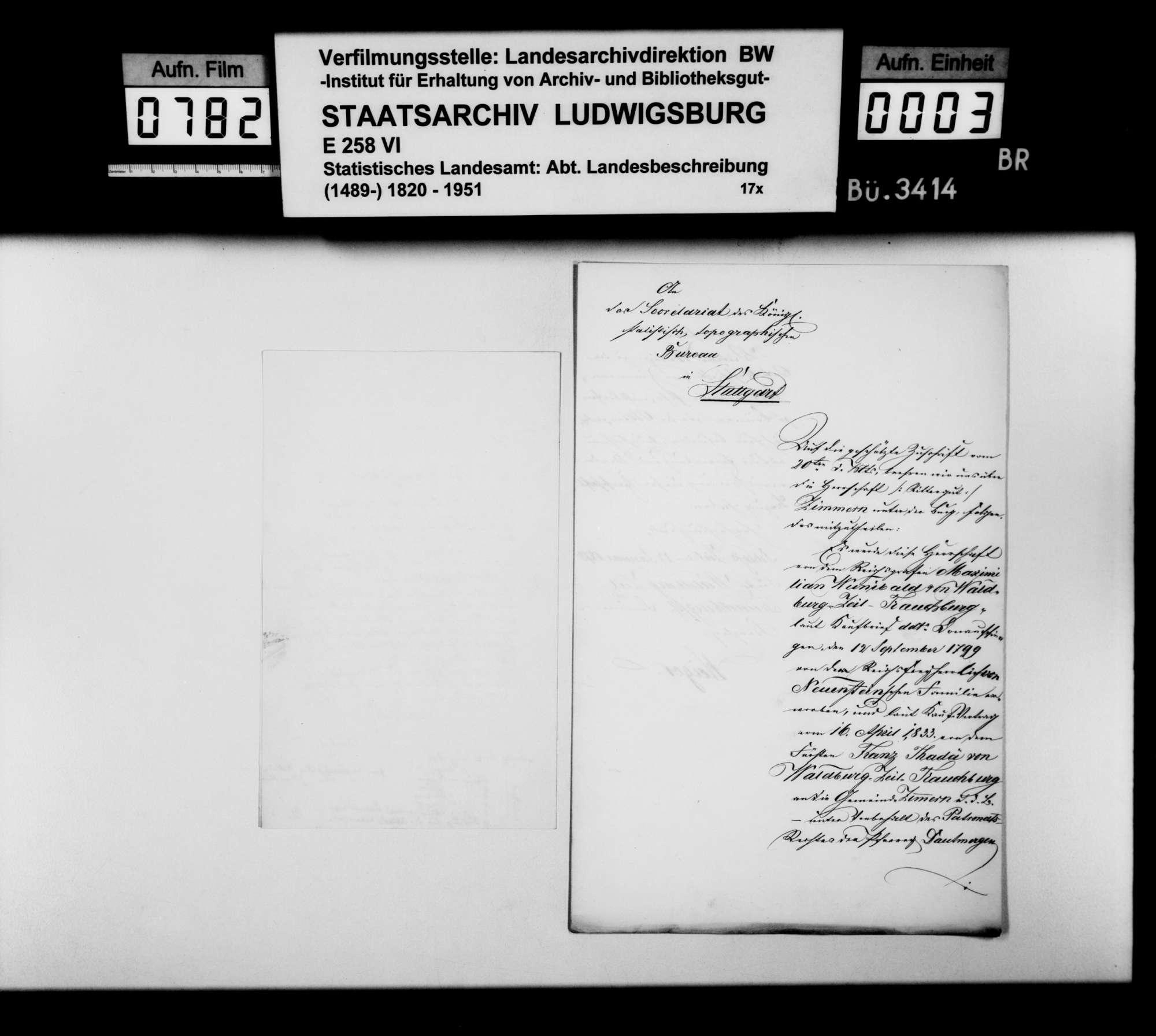 Auskünfte von Gutsverwaltern zur Besitzgeschichte adliger Grundherrschaften im Oberamt, Bild 2