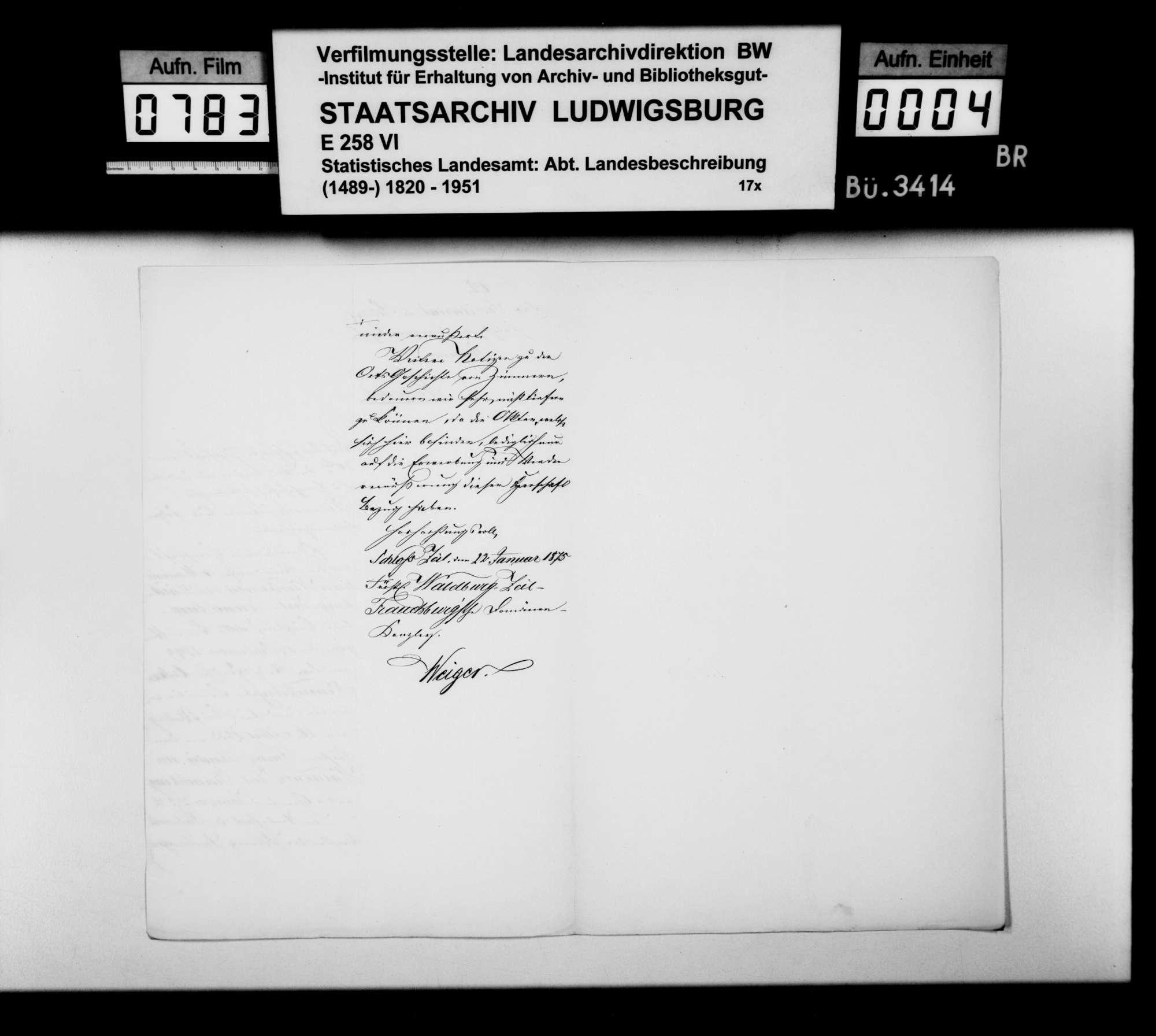 Auskünfte von Gutsverwaltern zur Besitzgeschichte adliger Grundherrschaften im Oberamt, Bild 3