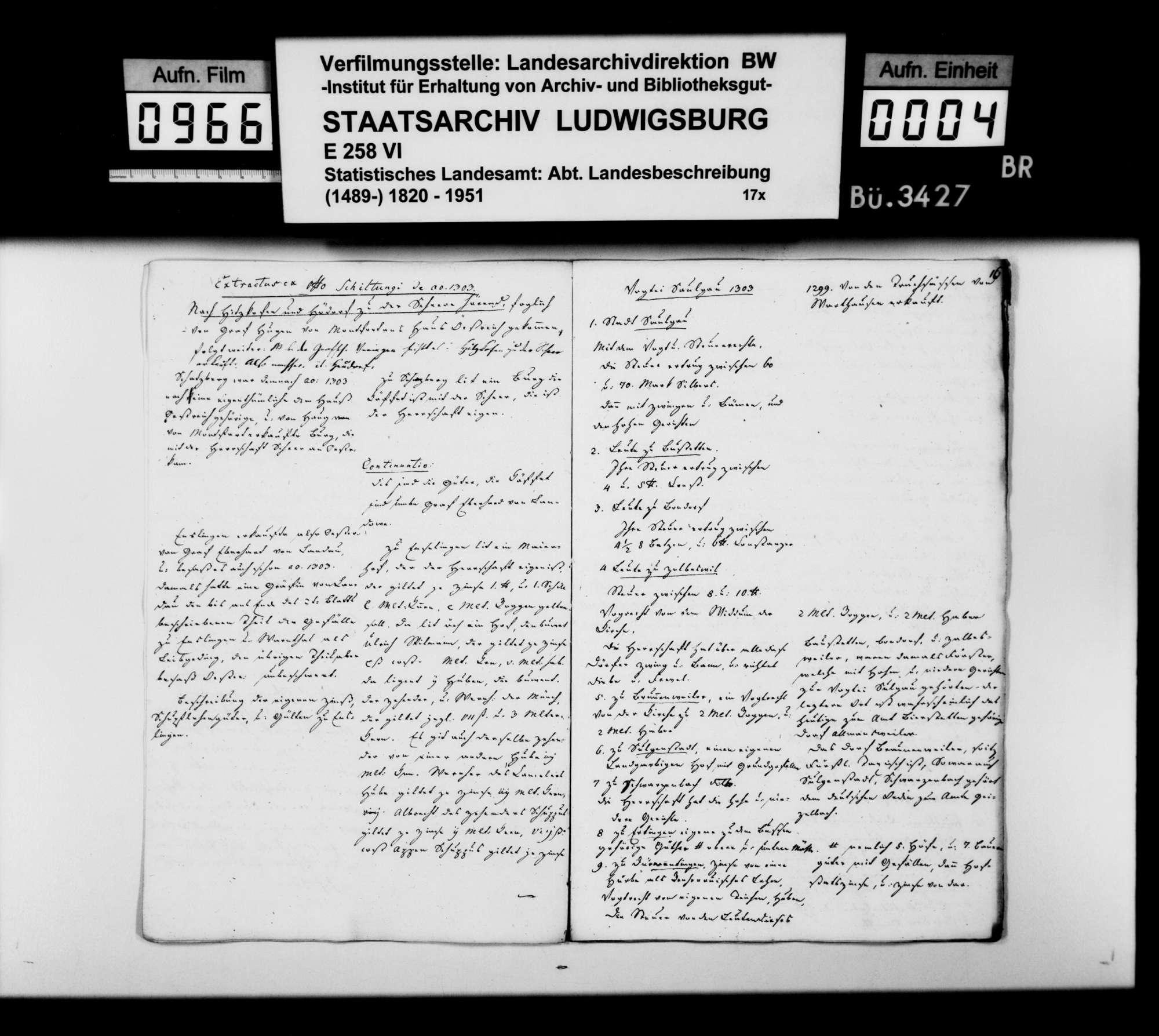 Abschriften und Auszüge [der Kanzlei des STBs] zur mittelalterlichen Adels- und Besitzgeschichte im Oberamtsbezirk und Umgebung, Bild 3