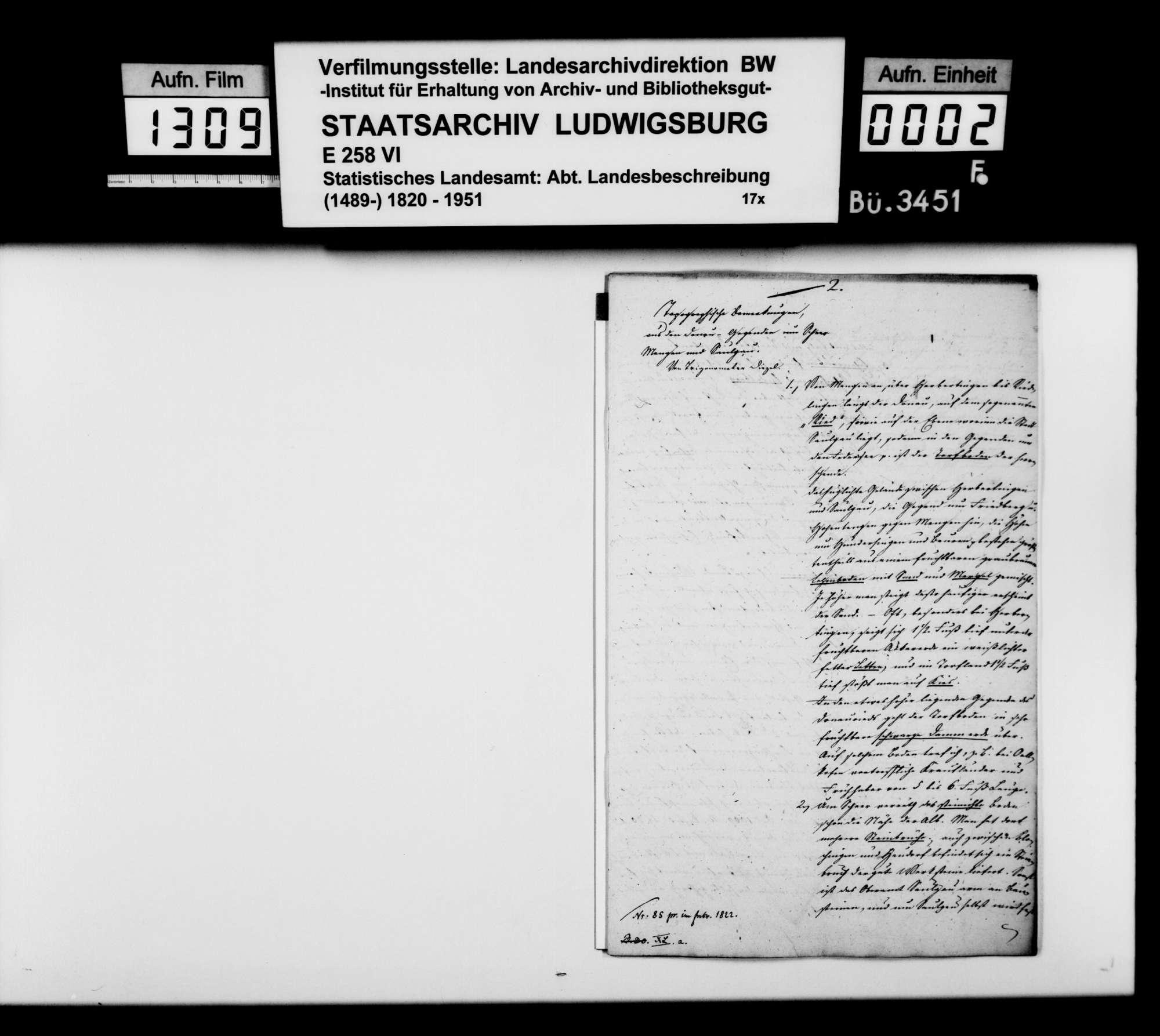 Topographische Bemerkungen aus den Donaugegenden um Scheer, Mengen und Saulgau, von Trigonometer Diezel, Bild 1