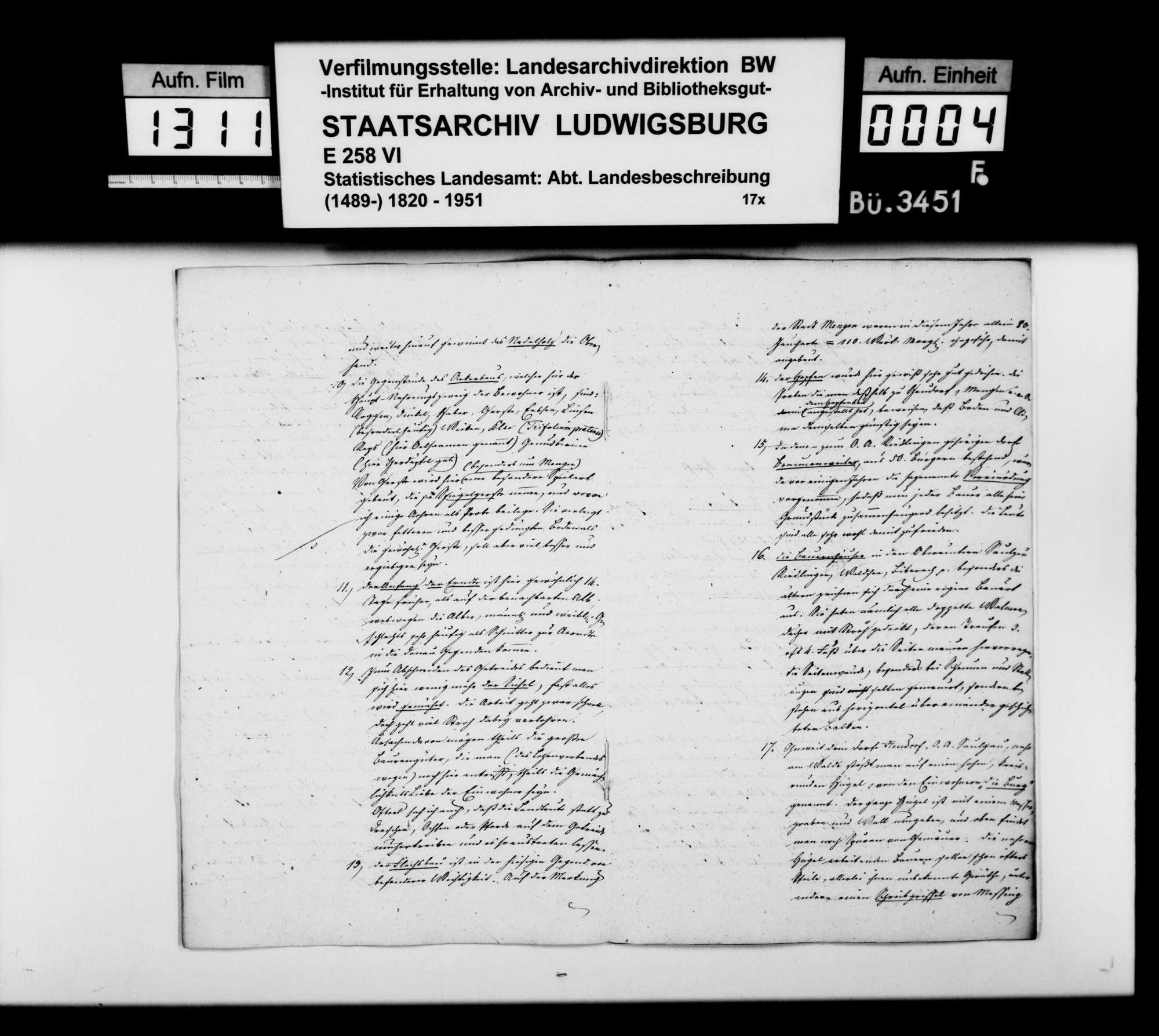 Topographische Bemerkungen aus den Donaugegenden um Scheer, Mengen und Saulgau, von Trigonometer Diezel, Bild 3