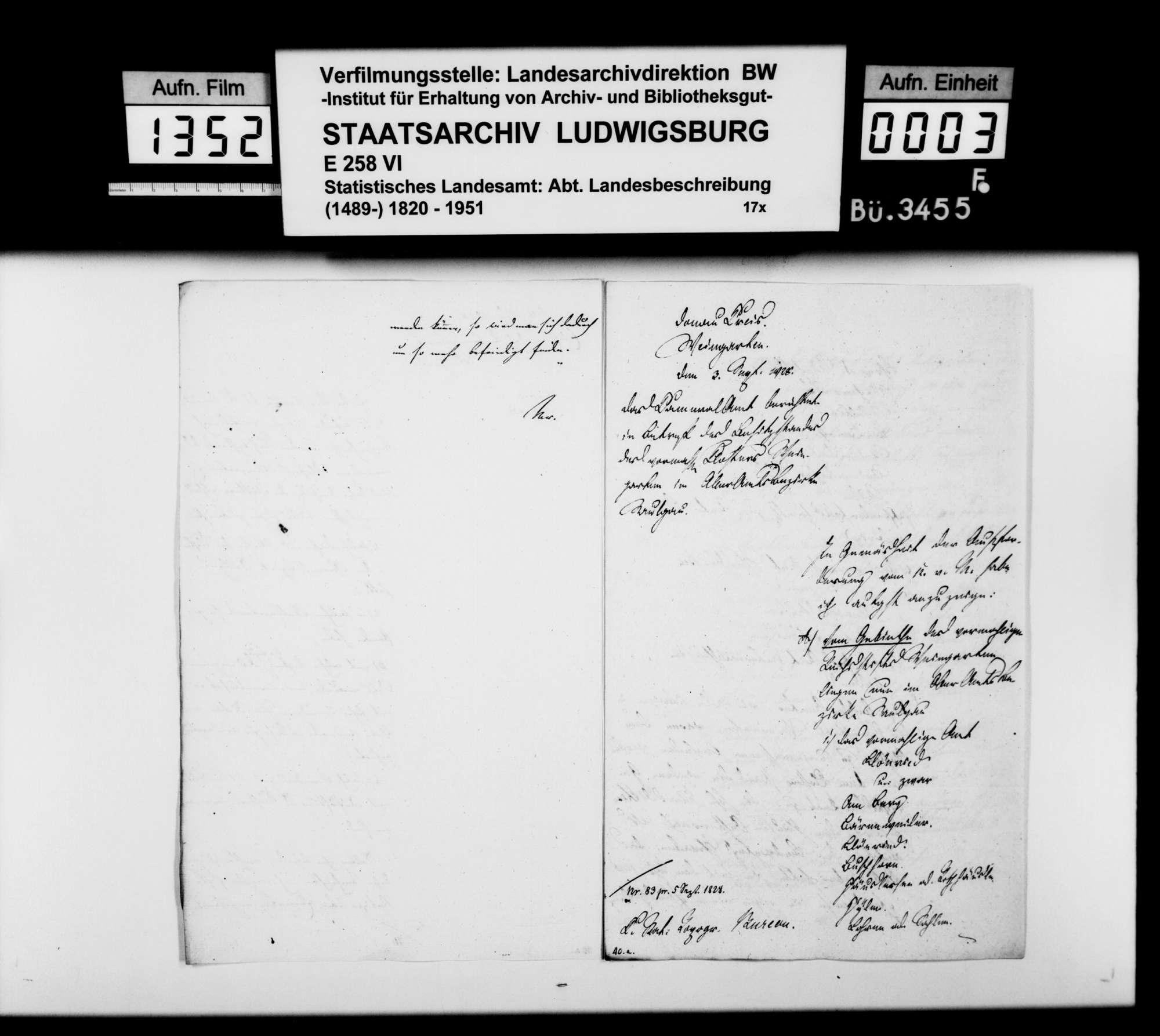 Korrespondenz mit württembergischen Dienststellen zur Nachrichtensammlung für die OAB, Bild 2