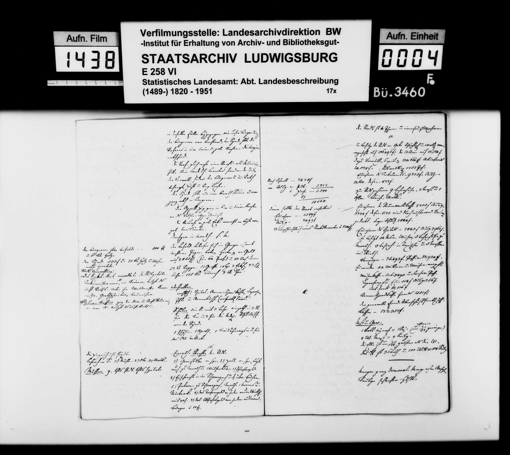 Auszüge aus Organisationsakten des [Regierungspräsidenten] von Reischach zum Dominium Saulgau und andere historische und statistische Notizen [des Professors Memminger] vor allem zu Mengen, Bild 3