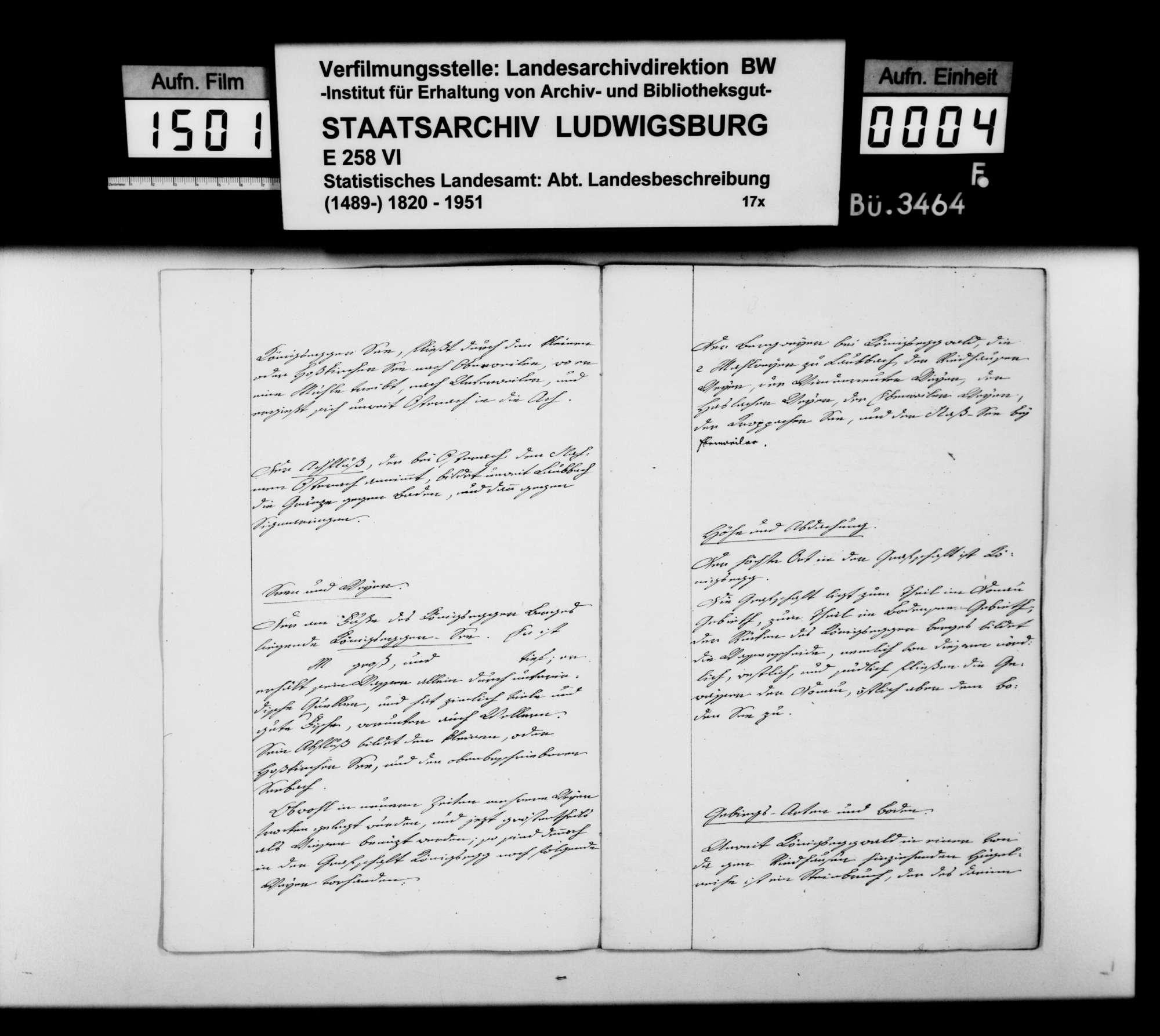 Domäneninspektor Mesmer aus Aulendorf über das Vermögen der Grafen von Königsegg-Aulendorf im Oberamt Saulgau [in der Reihenfolge der OAB], Bild 3