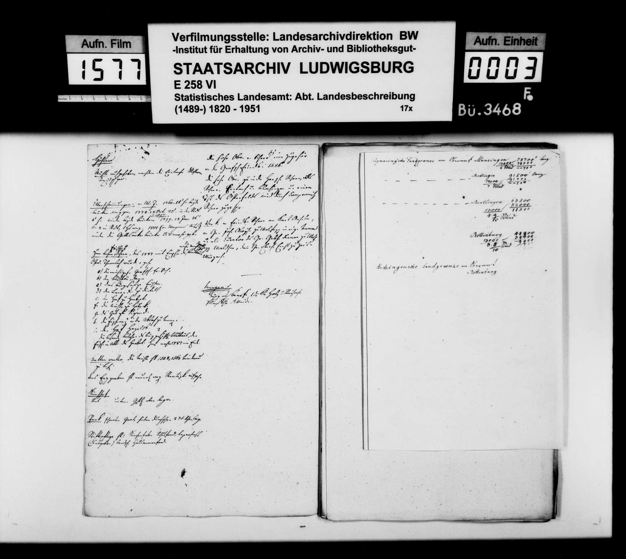 Notizen vornehmlich von Professor Memminger zur Vorbereitung des Manuskripts der OAB, Bild 2