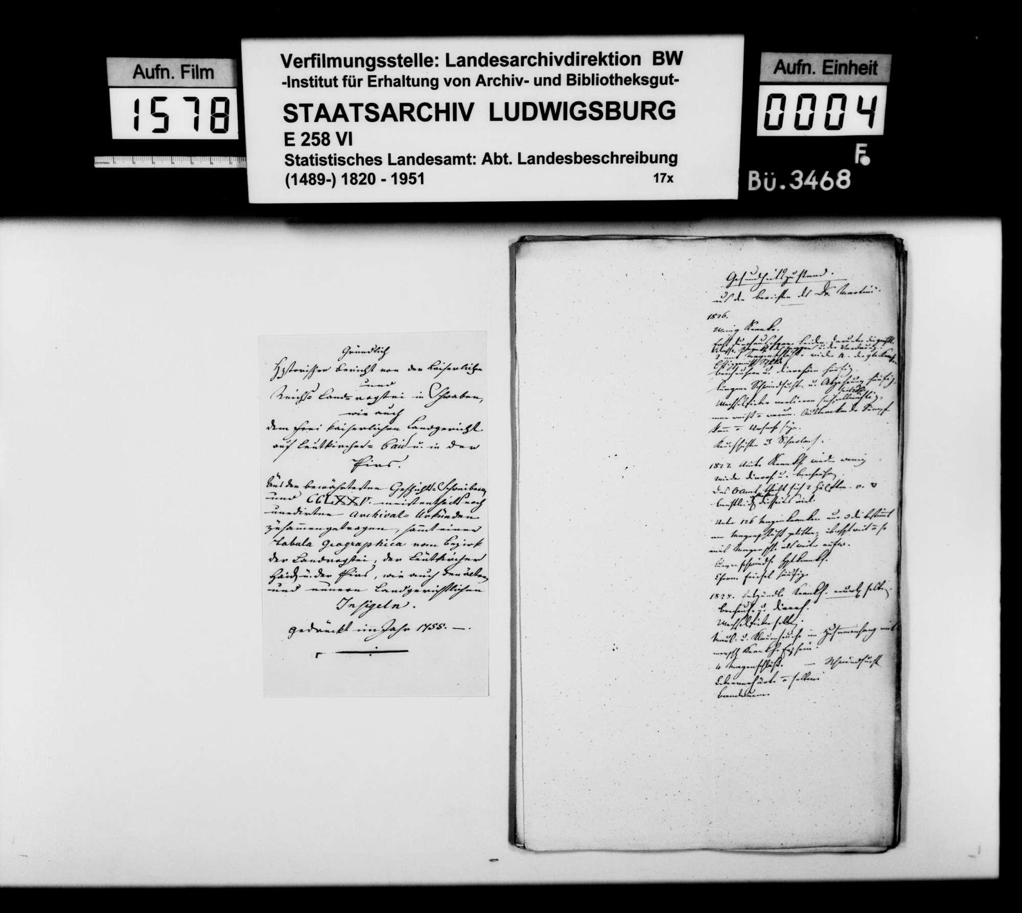Notizen vornehmlich von Professor Memminger zur Vorbereitung des Manuskripts der OAB, Bild 3