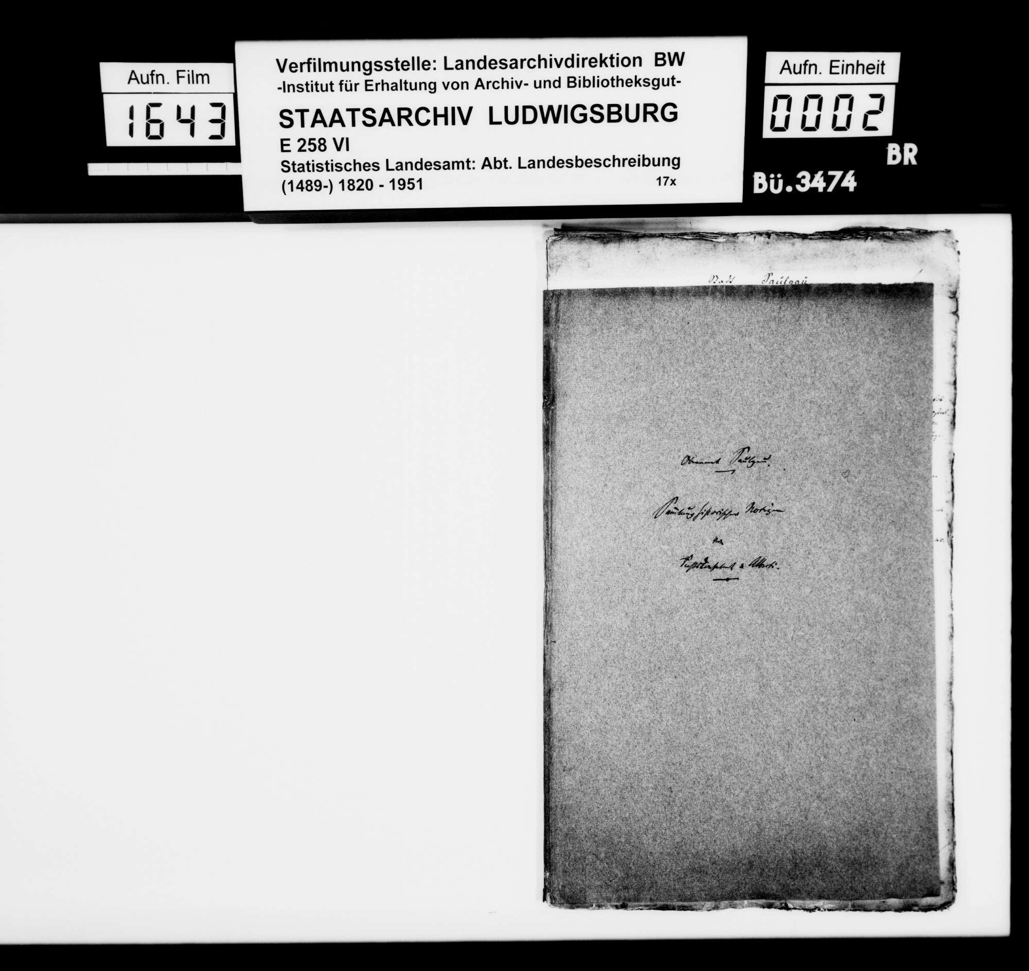 Historiographische Kollektaneen des Rechtskonsulenten [Karl] von Alberti, Frühmittelalter bis 1820, Bild 1