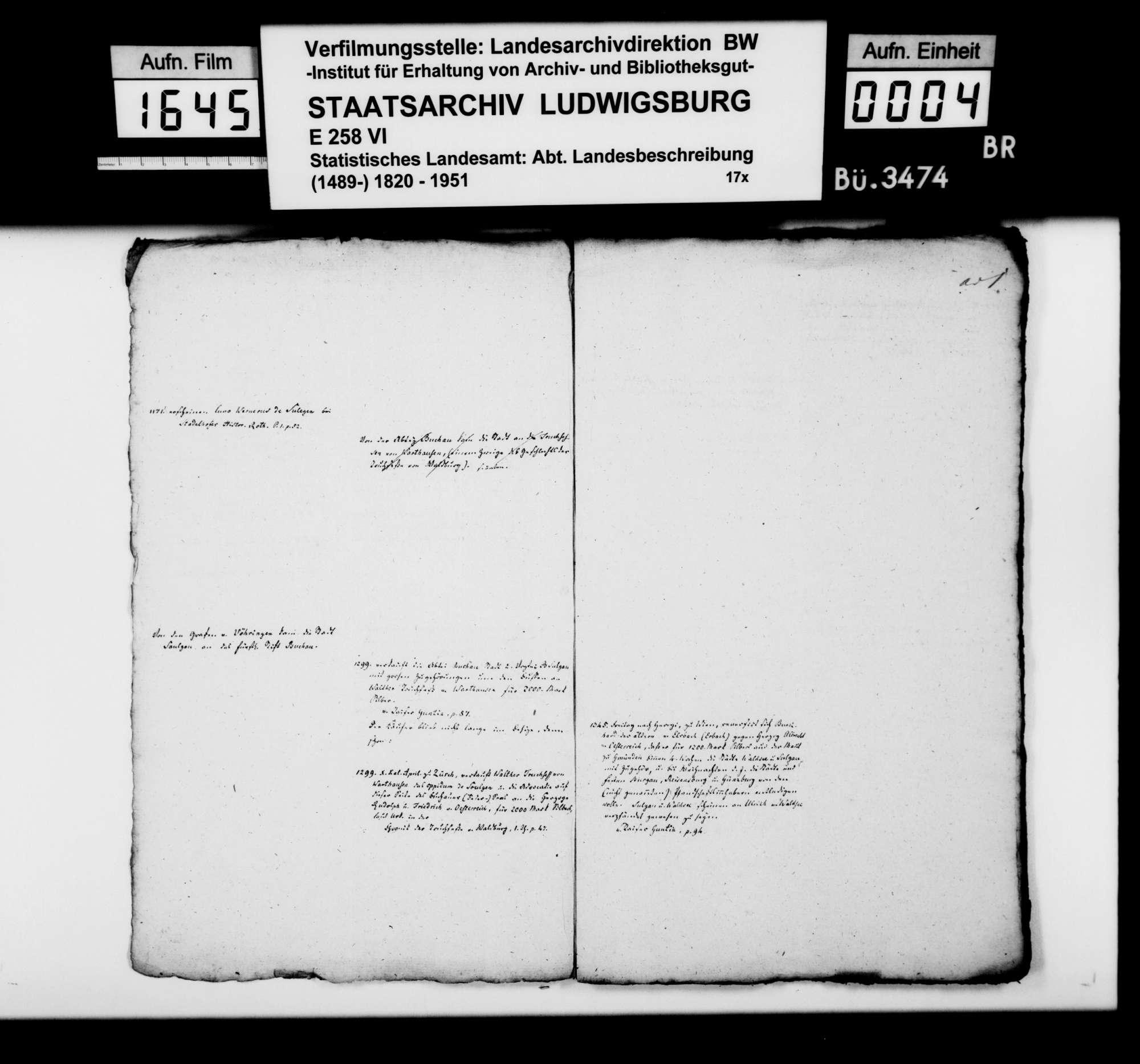 Historiographische Kollektaneen des Rechtskonsulenten [Karl] von Alberti, Frühmittelalter bis 1820, Bild 3