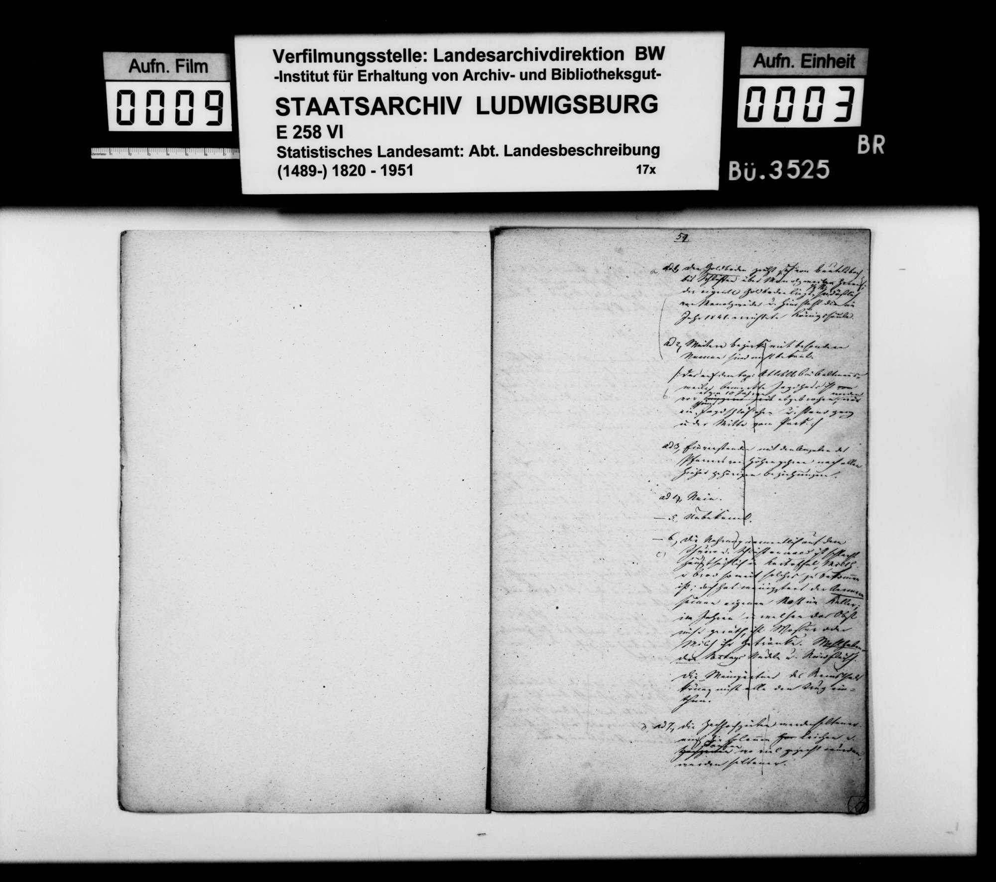 Antworten des Ferdinand Theurer aus Winterbach auf einen Fragenkatalog [des Finanzrats Moser], Bild 2