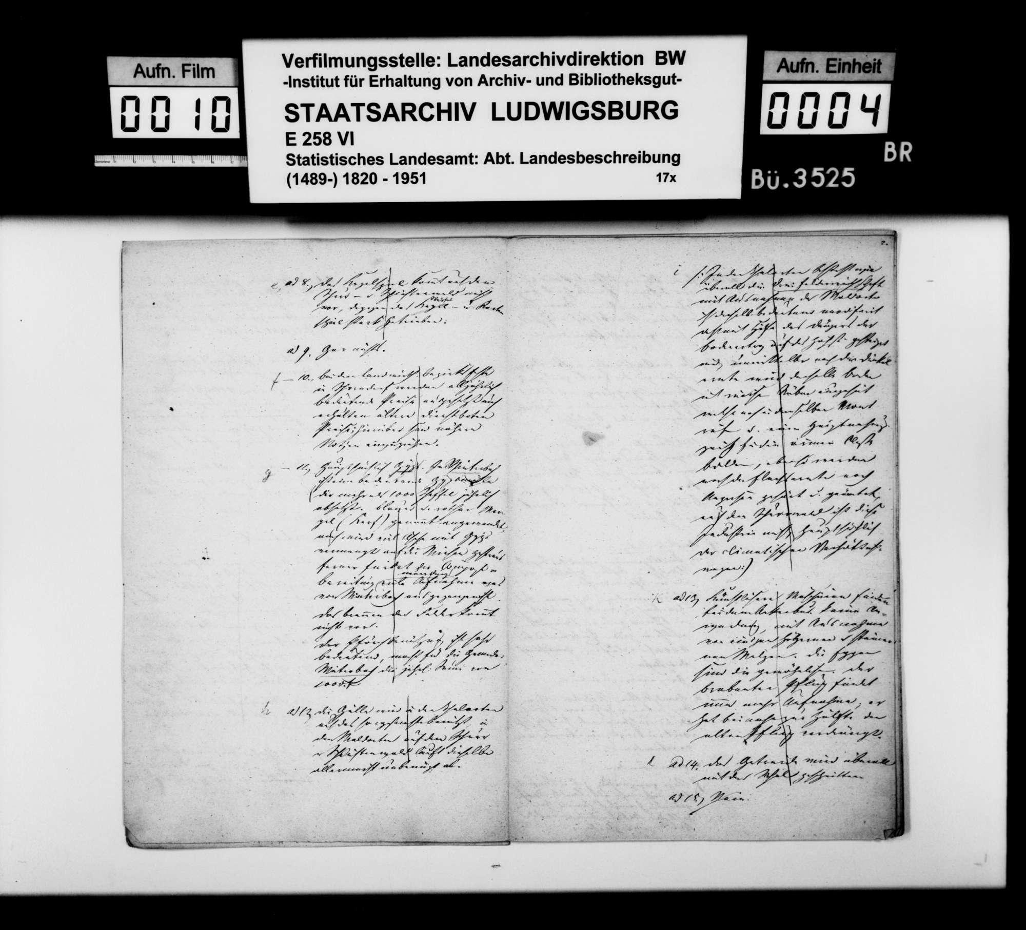 Antworten des Ferdinand Theurer aus Winterbach auf einen Fragenkatalog [des Finanzrats Moser], Bild 3