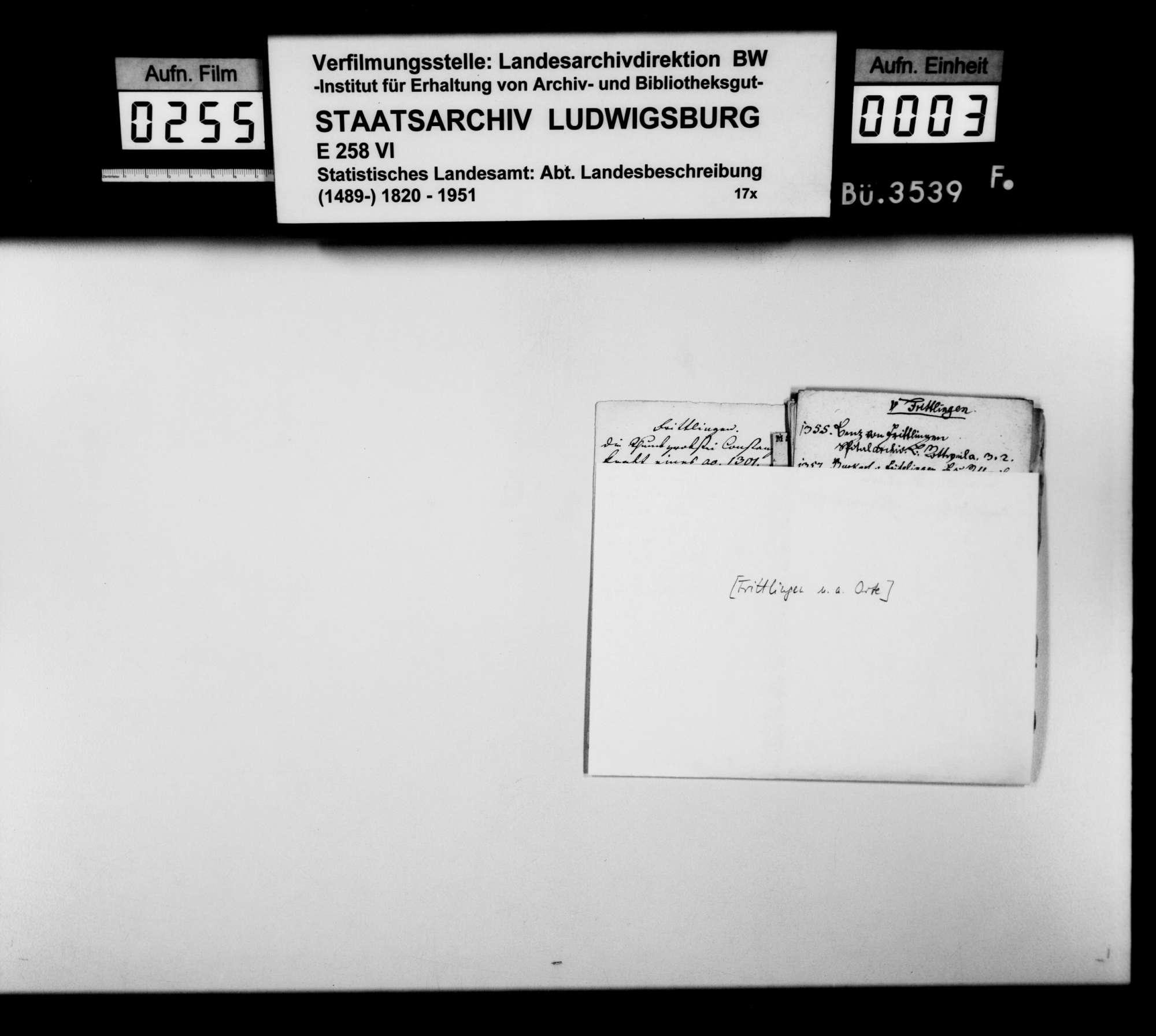 Notizen und Manuskripte [des Pfarrers Köhler aus Marschalkenzimmern] zur Geschichte im Oberamtsbezirk, Bild 2