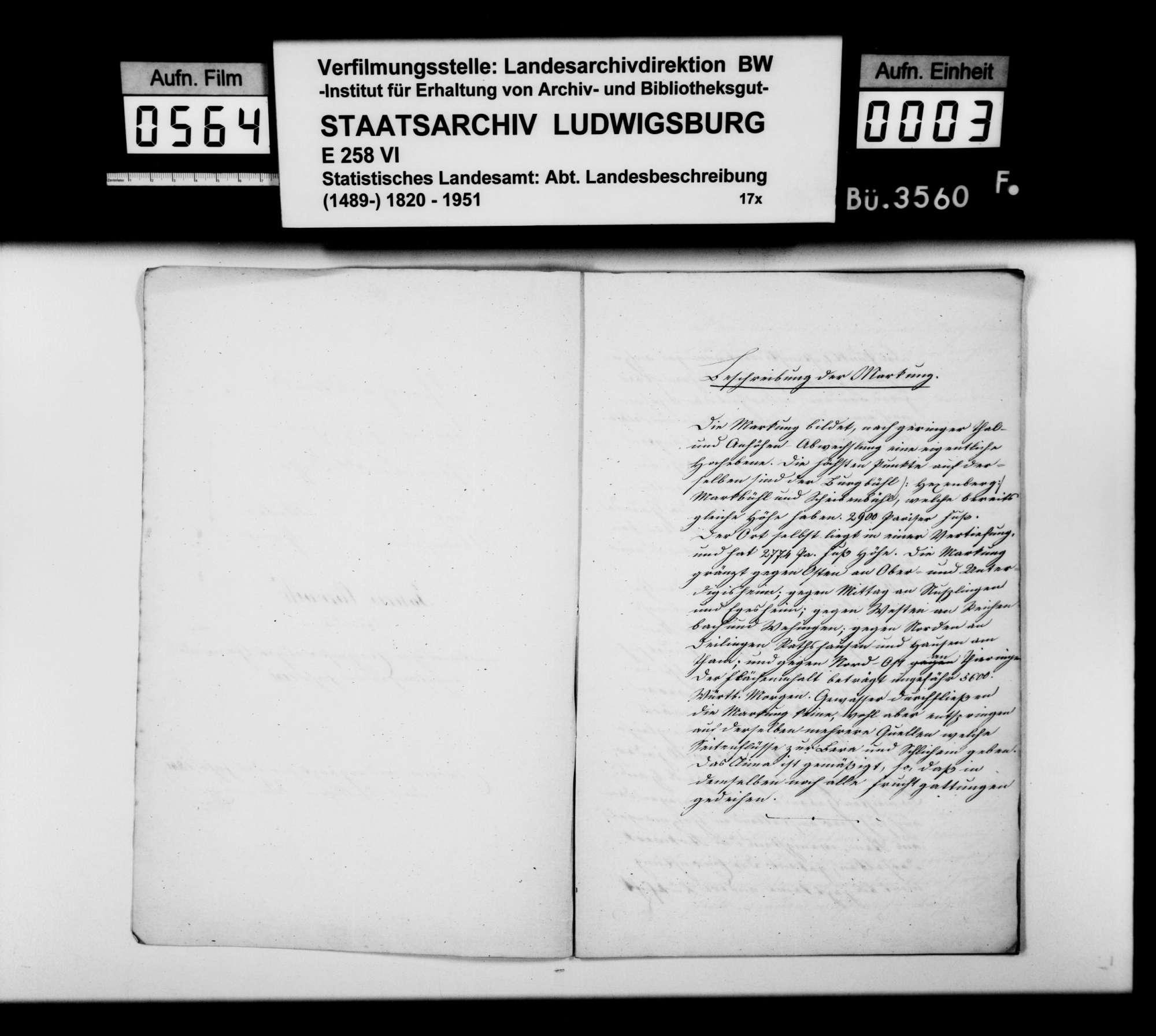 Beschreibung und Jahreschronik 1841 von Obernheim und Tanneck, verfaßt von Schullehrer Weinmann, Bild 2
