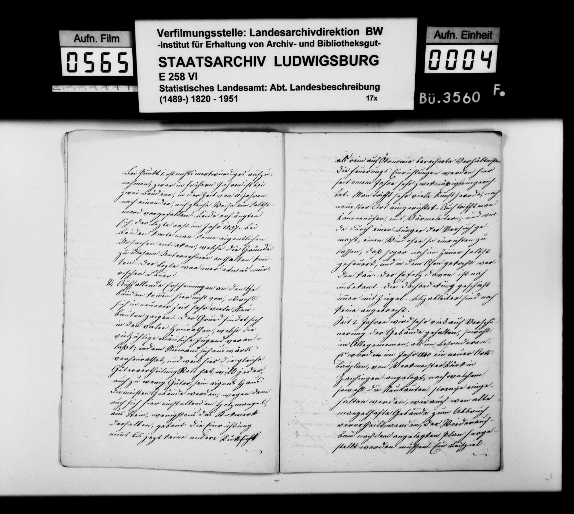 Beschreibung und Jahreschronik 1841 von Obernheim und Tanneck, verfaßt von Schullehrer Weinmann, Bild 3