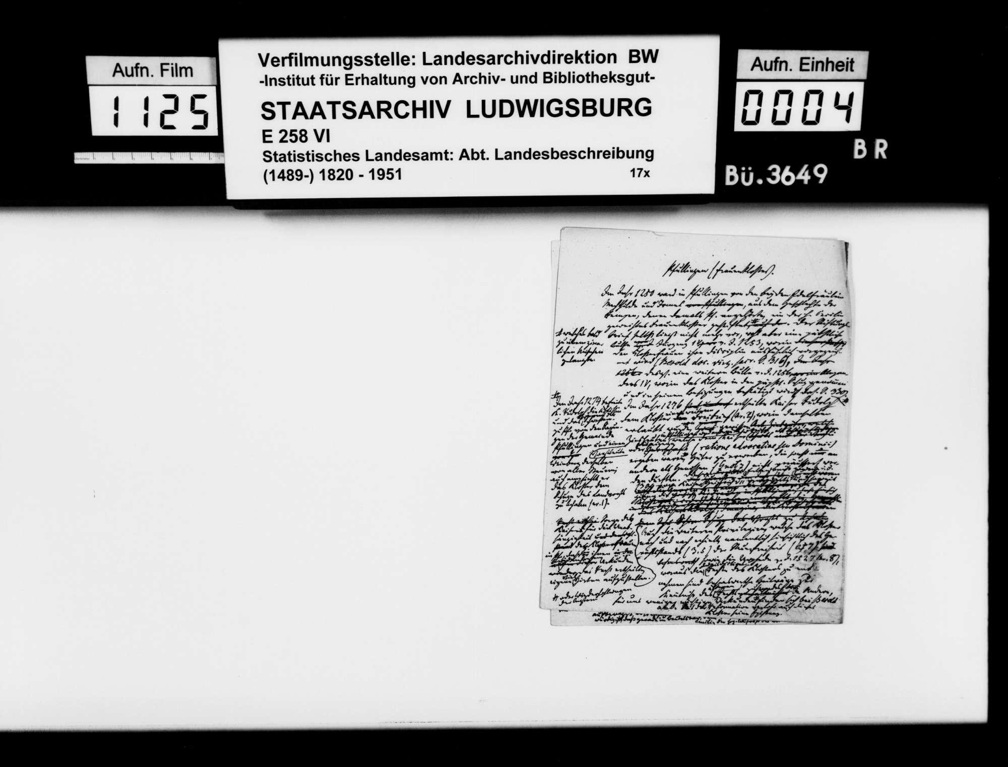 Verlegung des Chorherrenstifts von Beutelsbach nach Stuttgart, o.Verf., mit gedruckten Documenta Eccles[iae] Stuetgardiensis [vermutlich Hd. 5794] S. 3-12, 17-22, 27-30, mit handschriftlichen Korrekturen, Bild 3