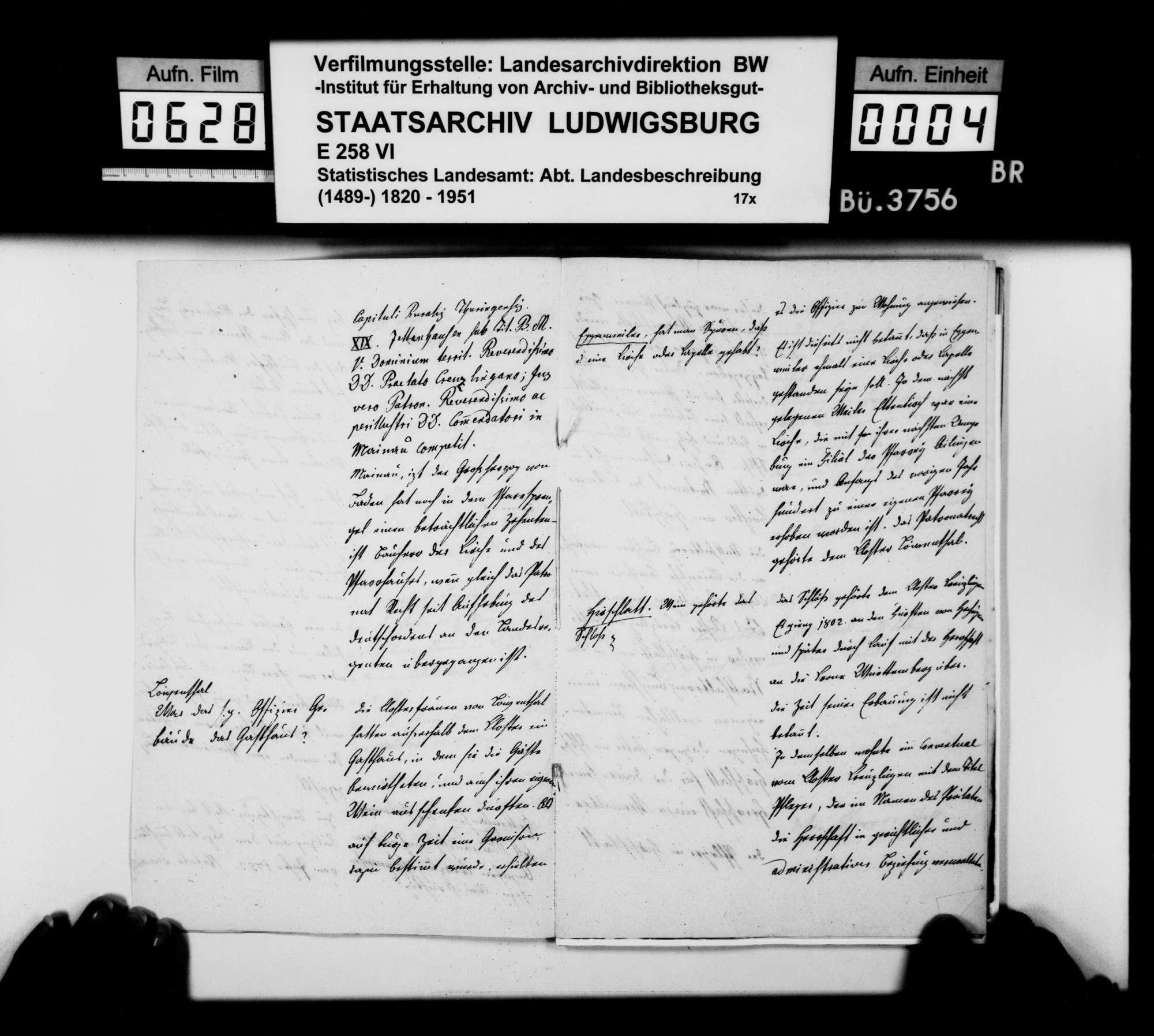Anstände und Nachfragen zum Teil B (Ortsbeschreibung) der OAB, beantwortet von Oberamtmann Walther, Bild 3