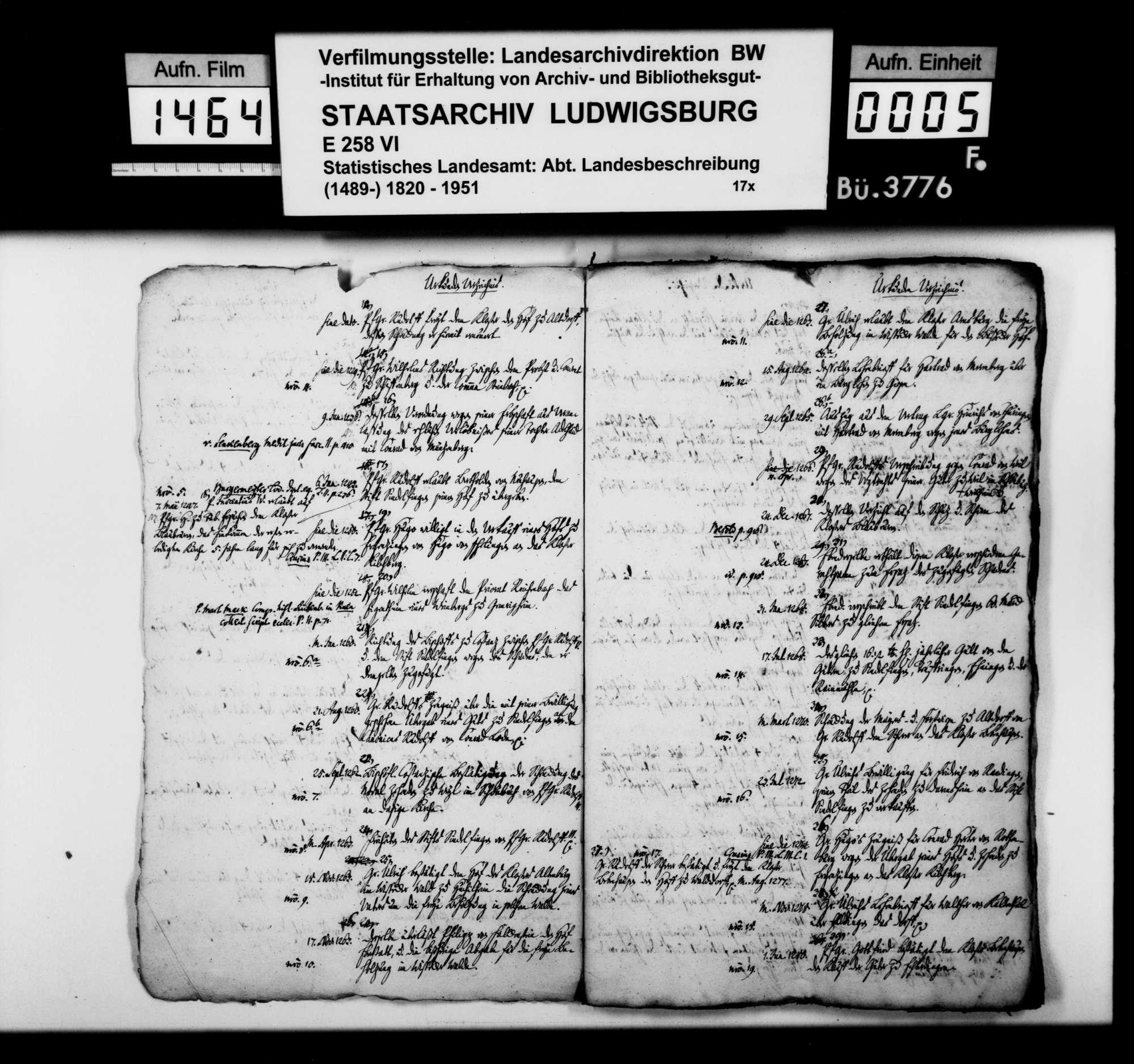 Wissenschaftliche Sammlung von Nachrichten zur Geschichte der Pfalzgrafen von Tübingen, [von Staatsarchivar Wilhelm Ferdinand Ludwig Scheffer], Bild 3