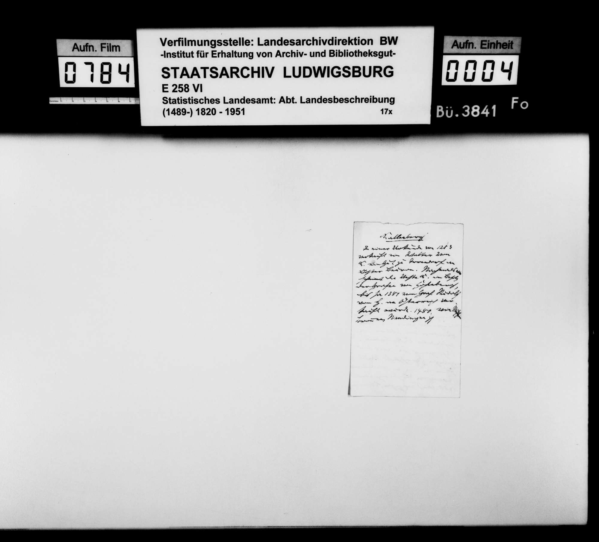 Notizen und Regesten zu Bronnen, Rietheim, Mühlheim, auch Kallenberg und Werenwag [Ghgt. Baden] sowie Auszüge aus einem Repertorium zu diversen Oberamtsorten, Bild 3