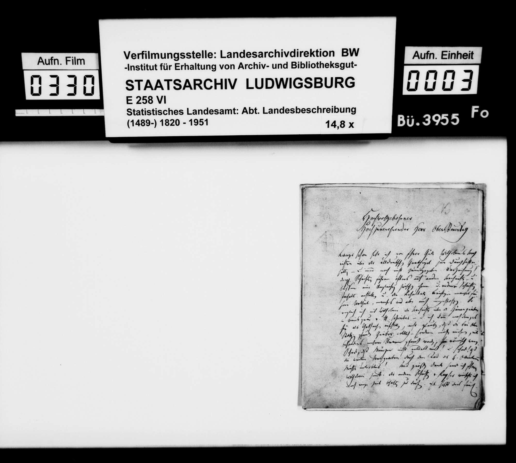 Mitarbeit an der und Auskünfte zur OAB, von Pfarrer Dieterich aus Langenau, Bild 2