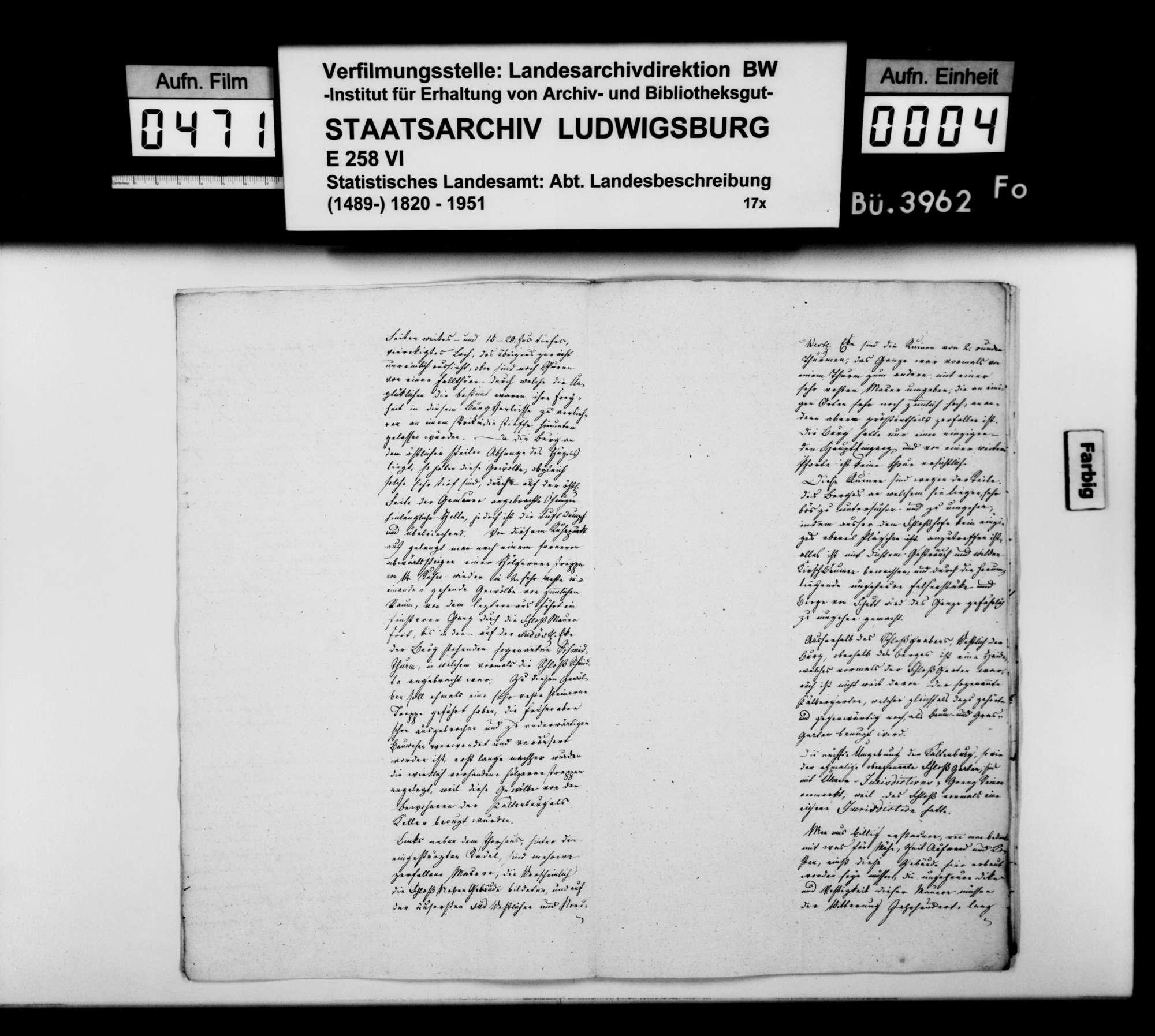 Aufsatz des Geometers Schäfer über Burg und Herrschaft Kaltenburg mit Lontal im nördlichen Lonetal sowie topographisch-statistischer Bericht über Niederstotzingen, Bild 3