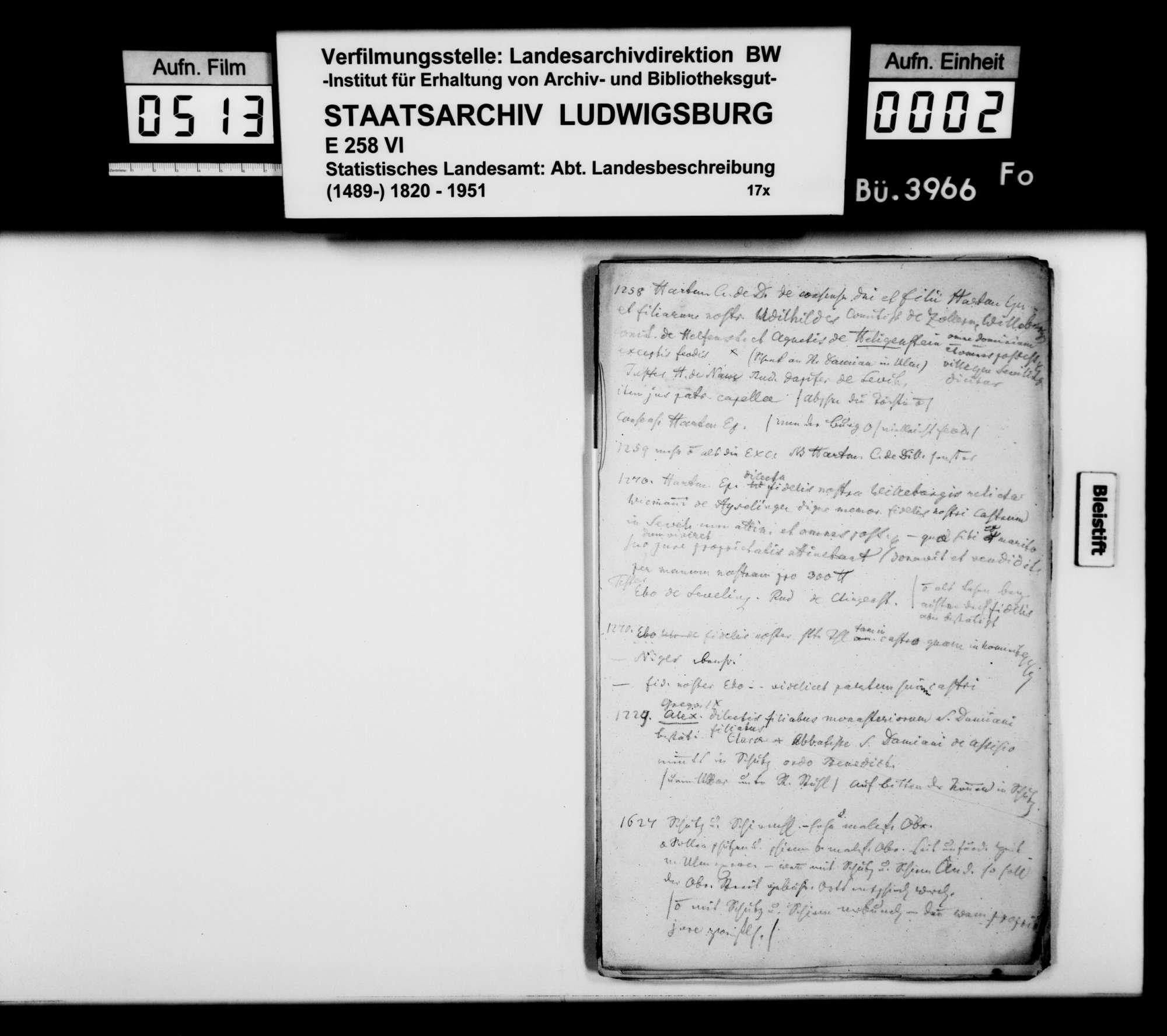 Notizen und Konzeptfragmente von Memminger zur OAB, Bild 1