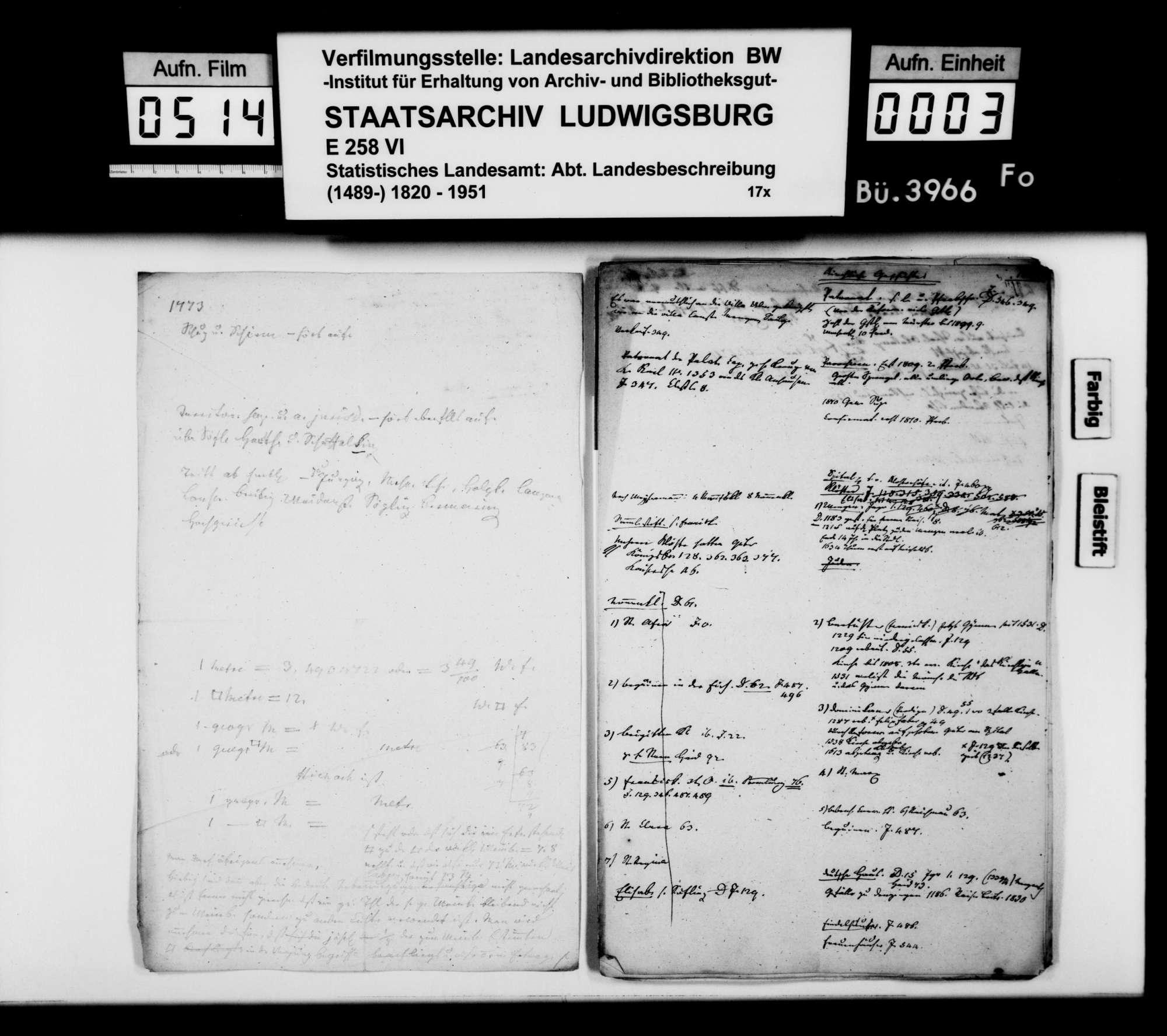 Notizen und Konzeptfragmente von Memminger zur OAB, Bild 2
