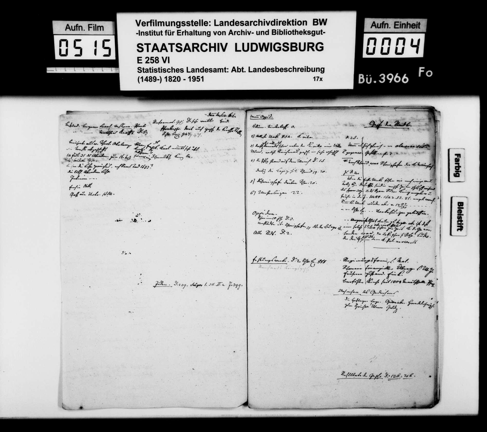 Notizen und Konzeptfragmente von Memminger zur OAB, Bild 3