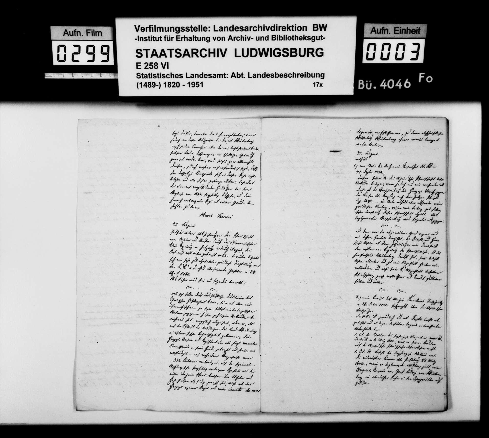 Exzerpte und Auszüge aus österreichischem und württembergischem Archivmaterial des Staatsarchivs [in Stuttgart] zur Geschichte des Oberamts Urach, Bild 2