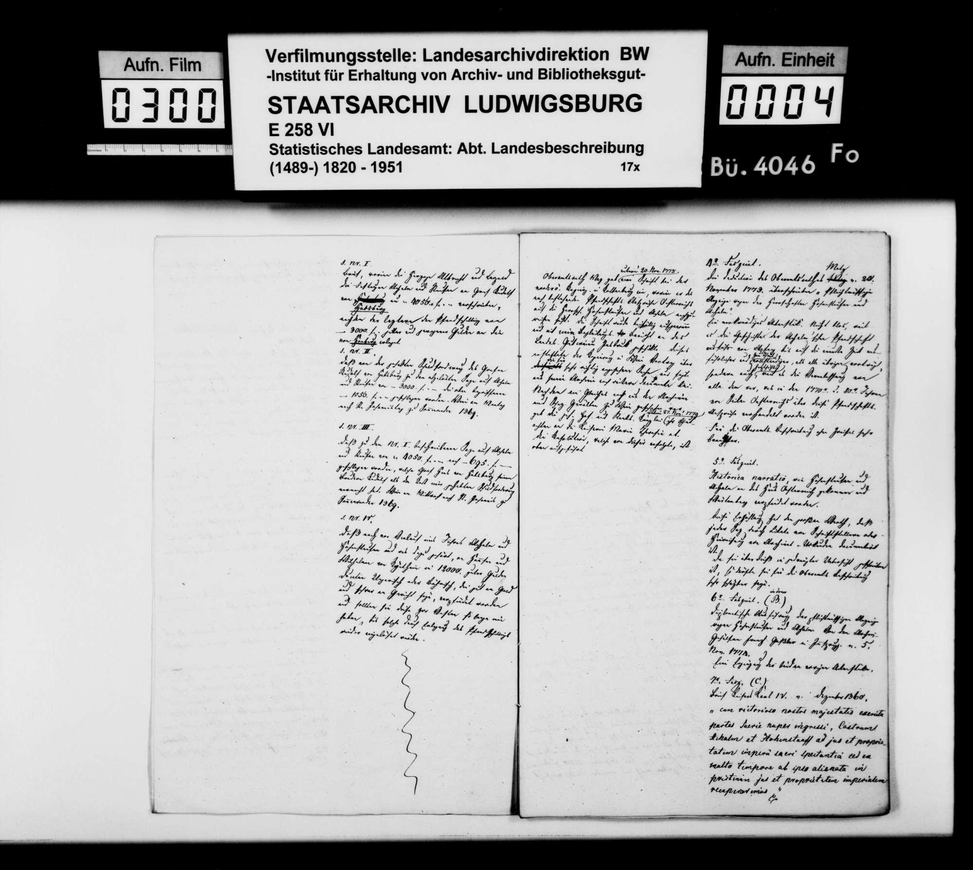 Exzerpte und Auszüge aus österreichischem und württembergischem Archivmaterial des Staatsarchivs [in Stuttgart] zur Geschichte des Oberamts Urach, Bild 3