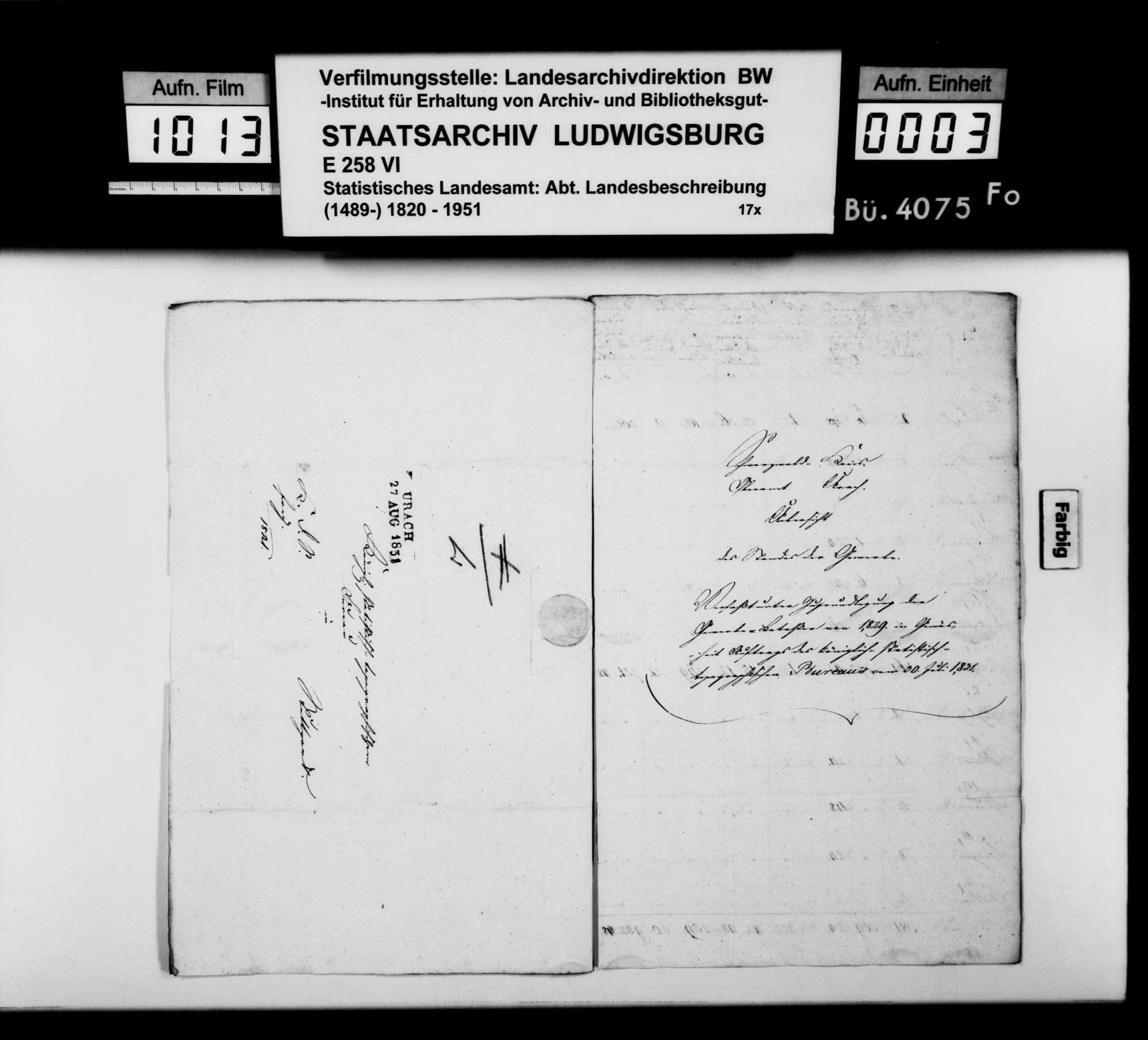 Gewerbestatistik des Oberamts nach der Katasteraufnahme von 1829, Bild 2
