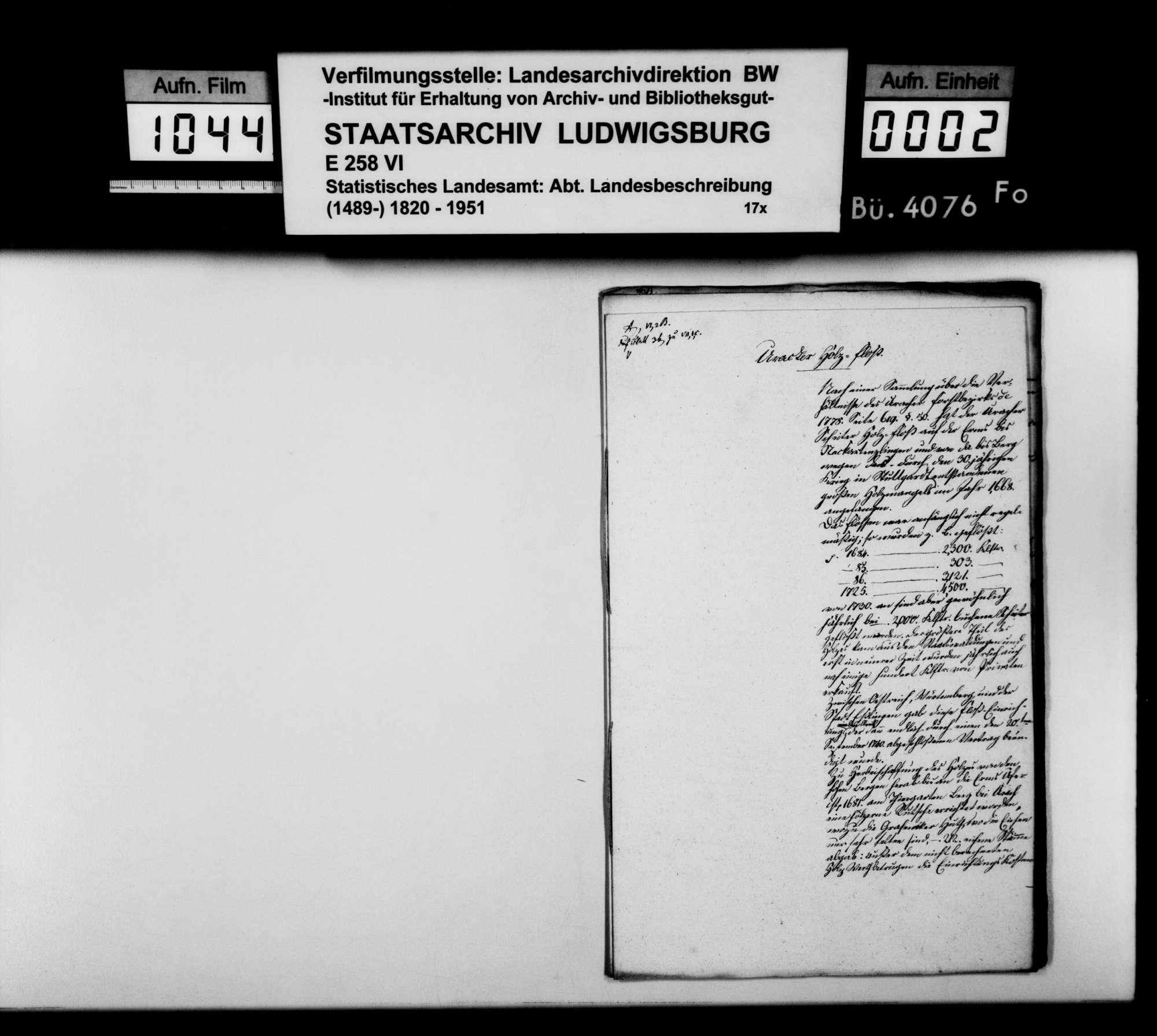 Abhandlungen, Notizen und Manuskriptentwürfe zum Gewerbe im Oberamt, Bild 1