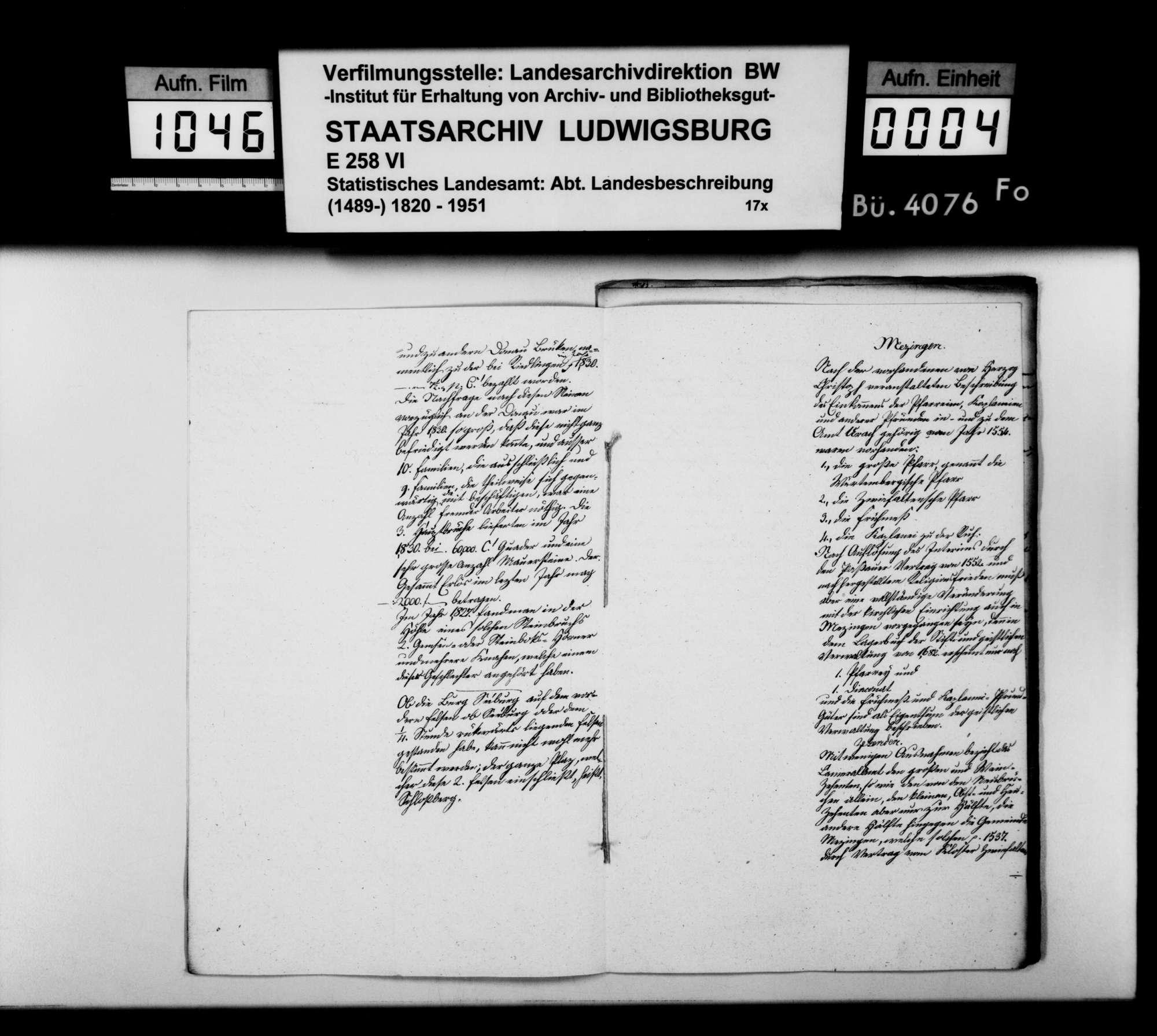 Abhandlungen, Notizen und Manuskriptentwürfe zum Gewerbe im Oberamt, Bild 3
