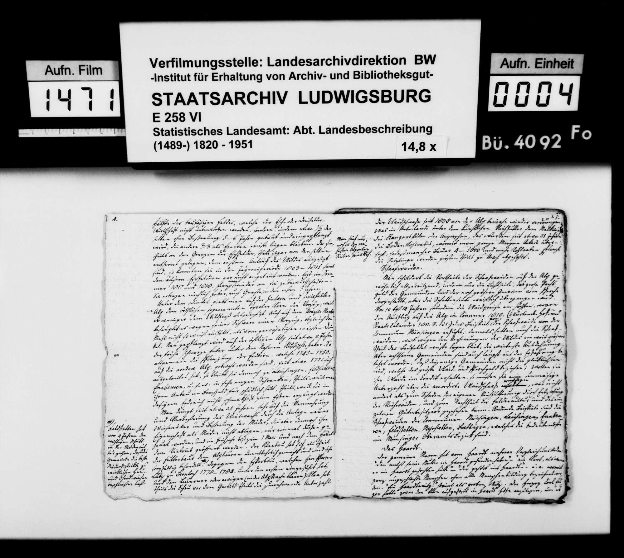 Manuskripte und Material des Pfarrers Gratianus aus Hengen zu Urach und Umgebung, Bild 3