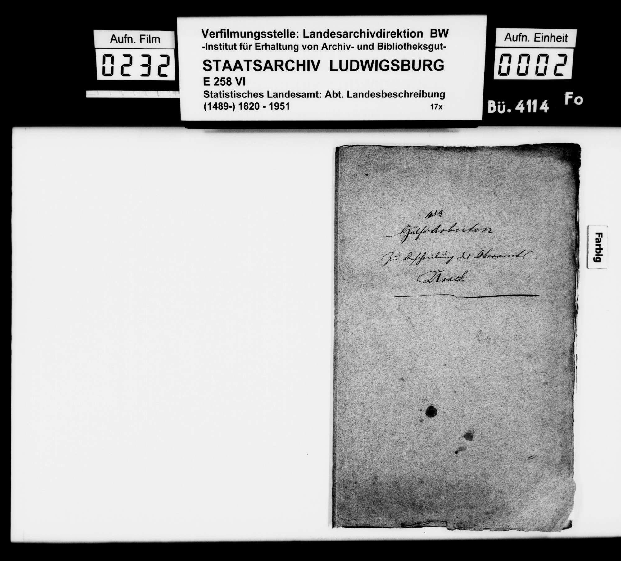 Abschriften und Notizen des STBs zu den Ortsbeschreibungen, Bild 1