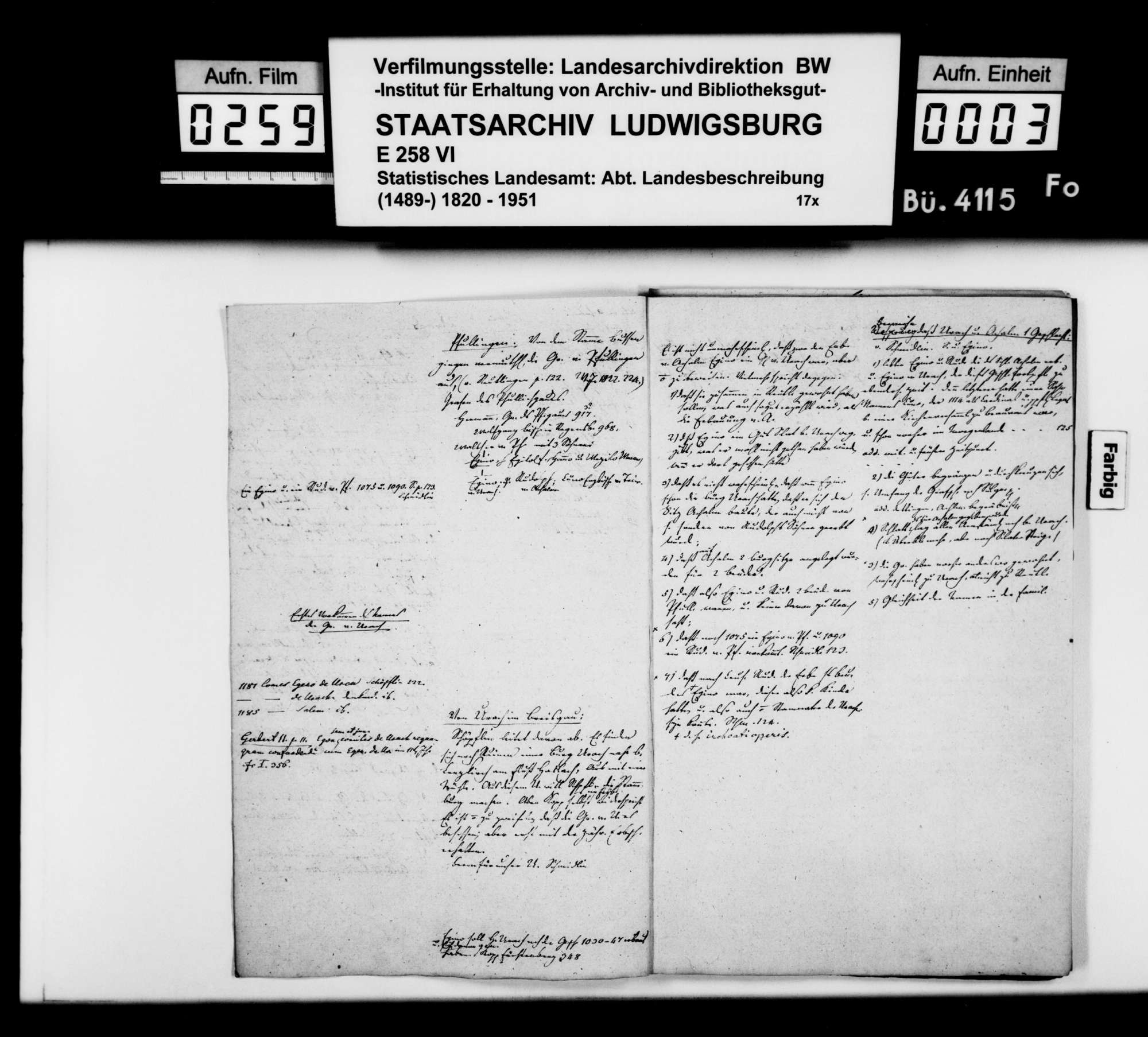 Konzept des Johann Daniel Georg Memminger zur OAB Urach, Rohfassung, Bild 2