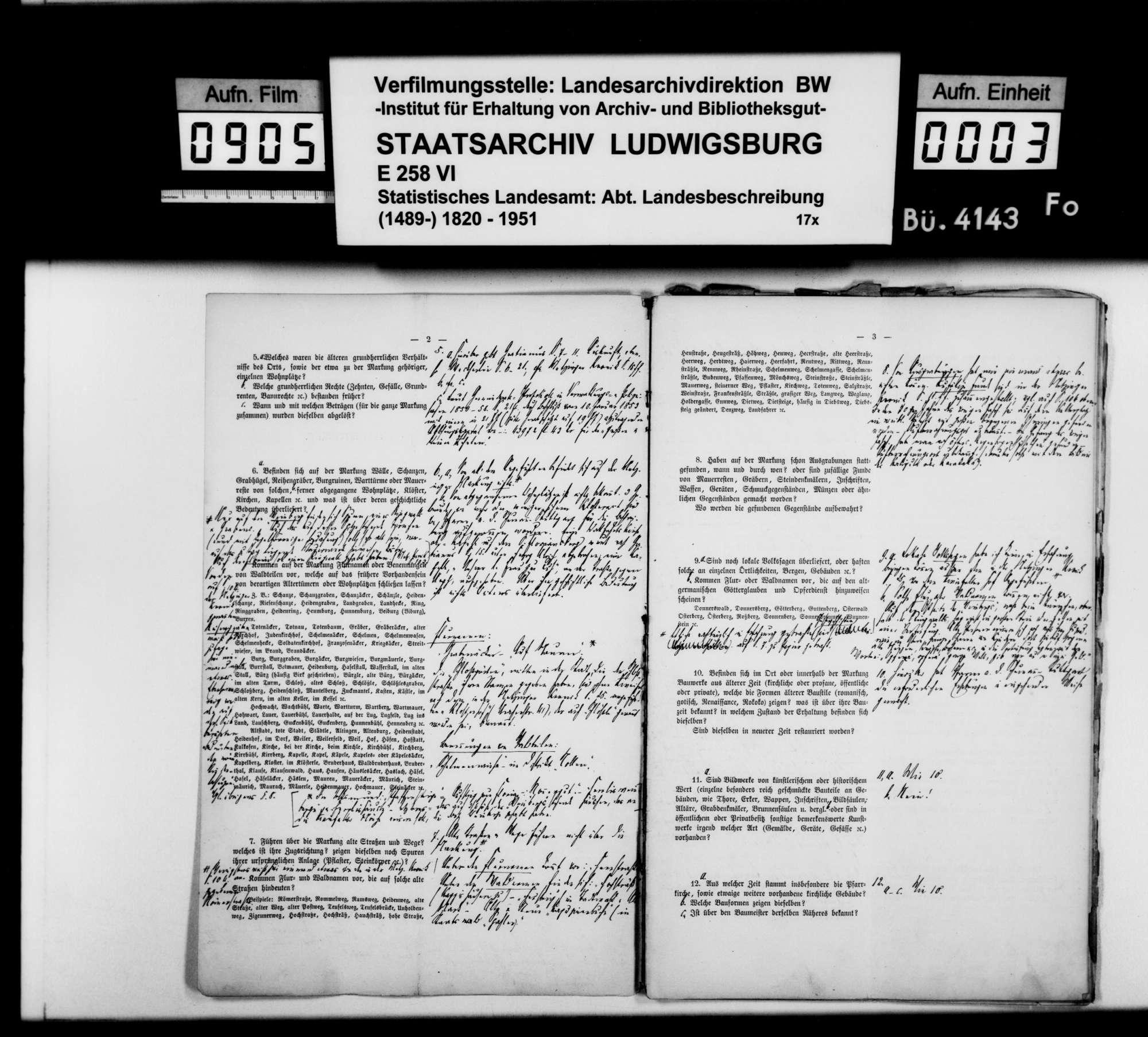 Ortsbeschreibung von Metzingen mit Fragebogen (wie 4125), Bild 2