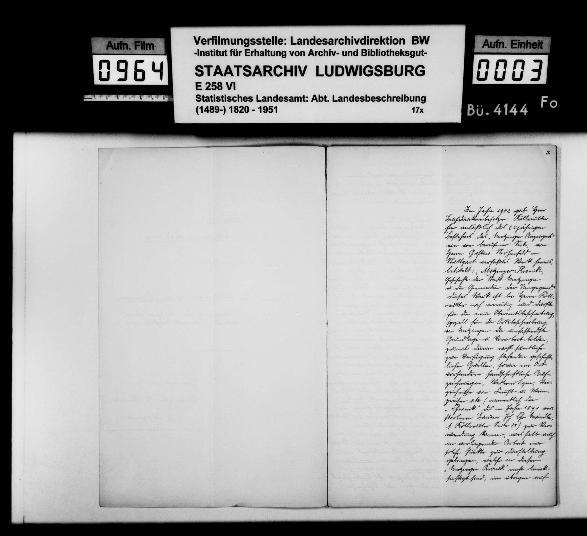 Konferenzaufsätze des Unterlehrers G. Wurster und des Hilfslehrers Gustav Strohmaier zur Ortsbeschreibung von Metzingen, Bild 2