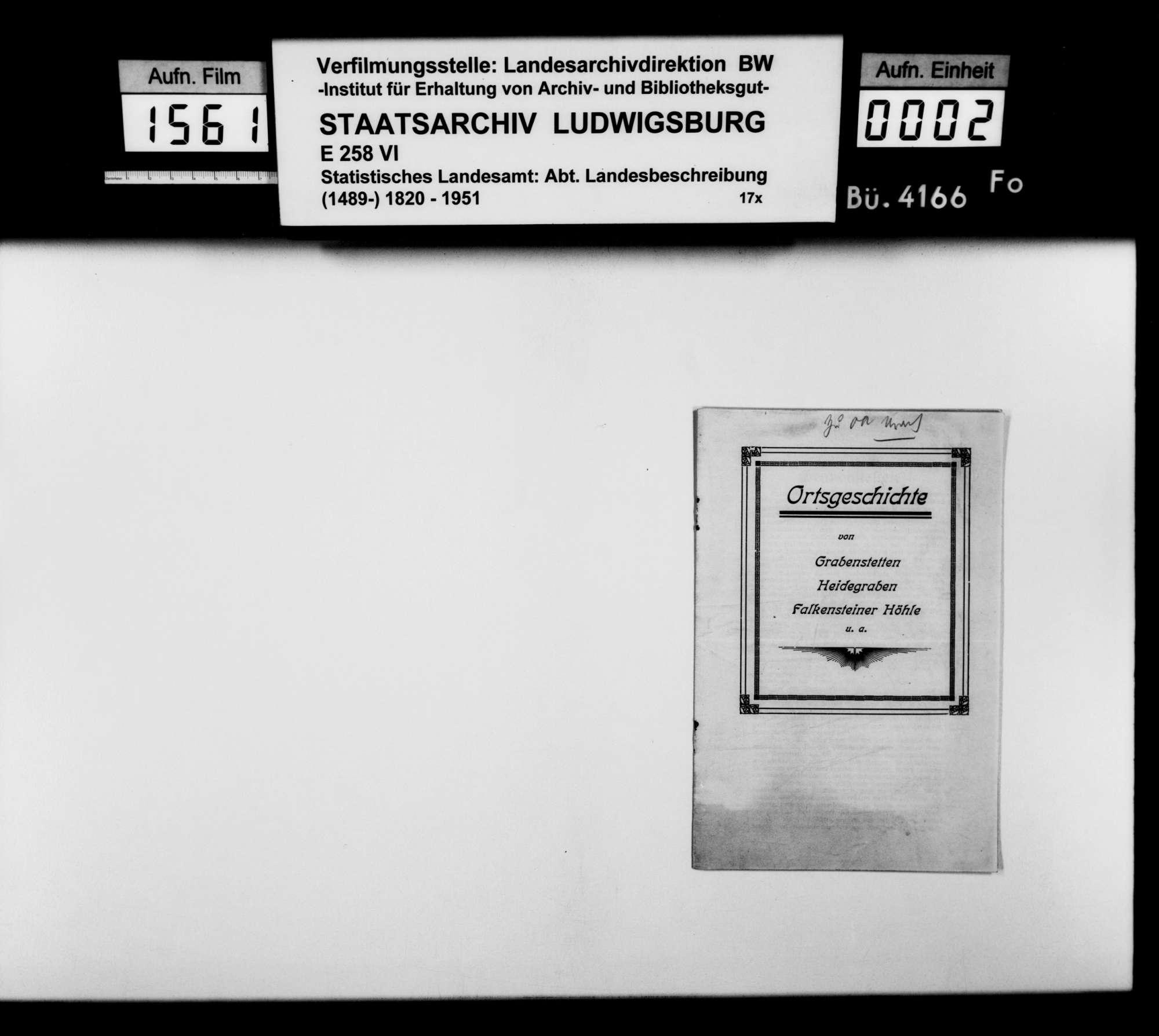 Sammlung gedruckten Materials für die Neubearbeitung der OAB, Bild 1