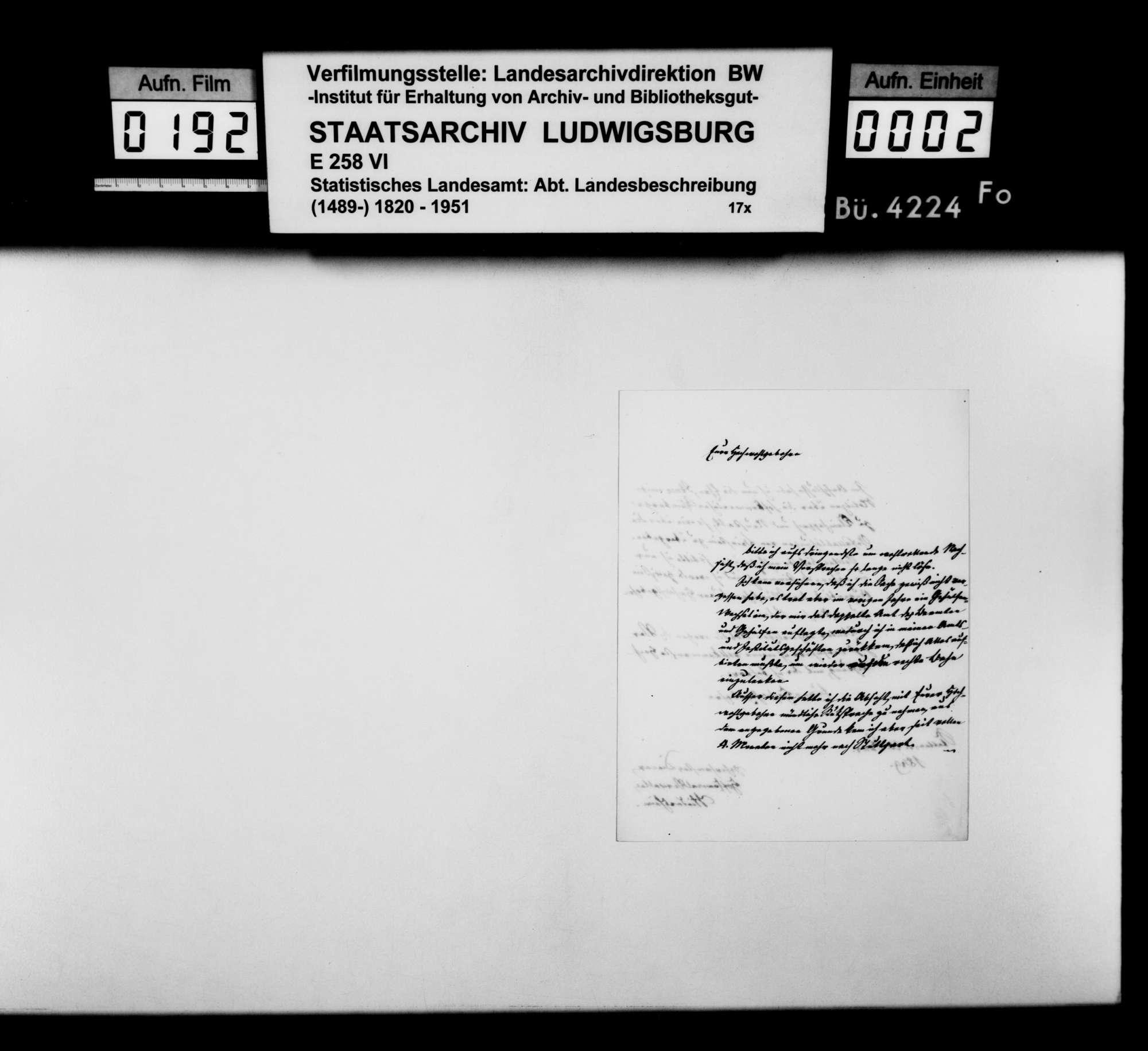 Schriftwechsel zur Mitteilung von Sachverhalten für die OAB, Bild 1