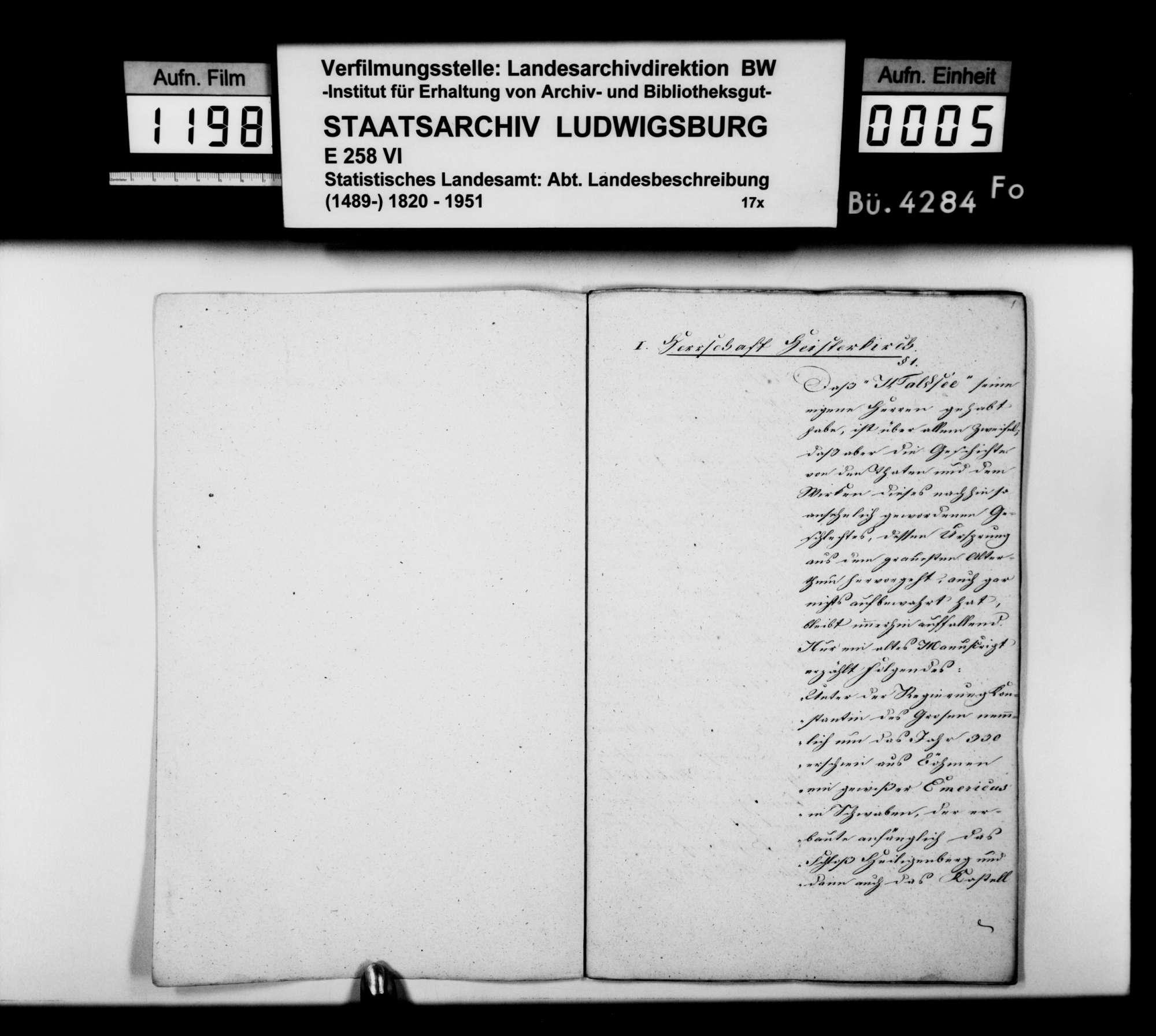 Beschreibung der ehemaligen Herrschaft Waldsee, von Hofrat Baur und Archivar Bodent aus Wolfegg, Bild 3