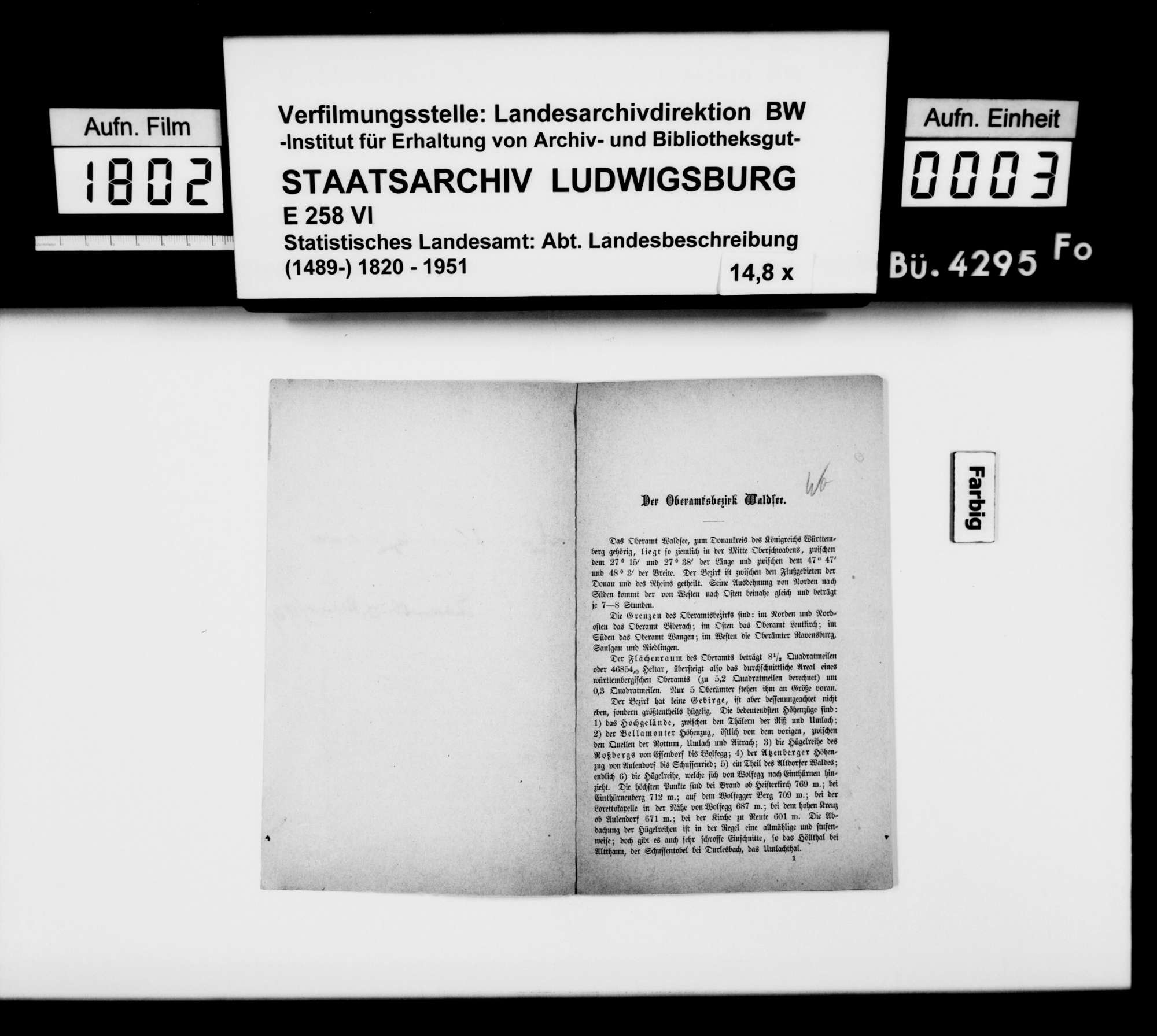 Sammlung von Drucken für eine Neubearbeitung der OAB, Bild 2