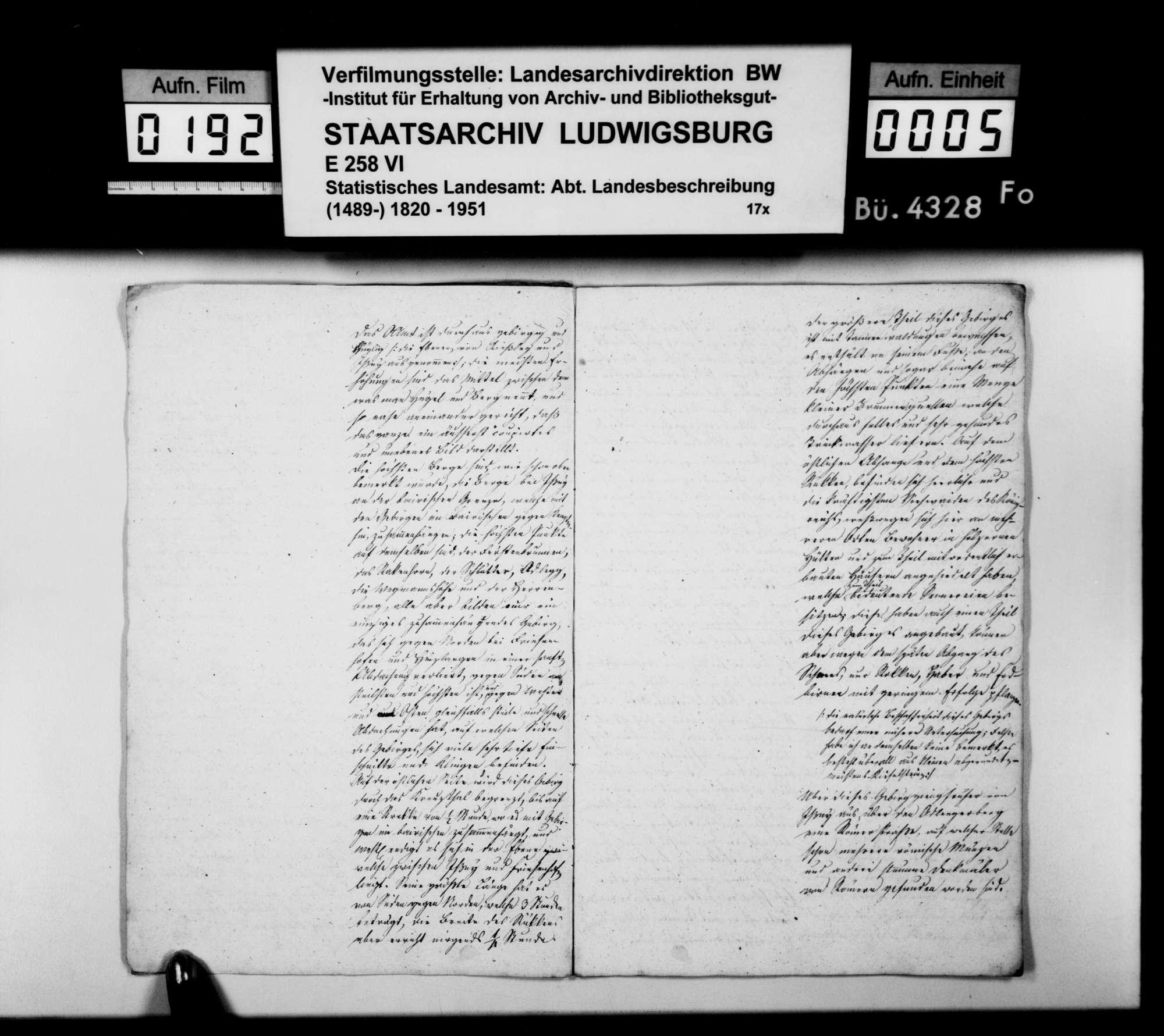 Beiträge des Obergeometers [Friedrich?] Pross zur Beschreibung des Oberamts, Bild 3
