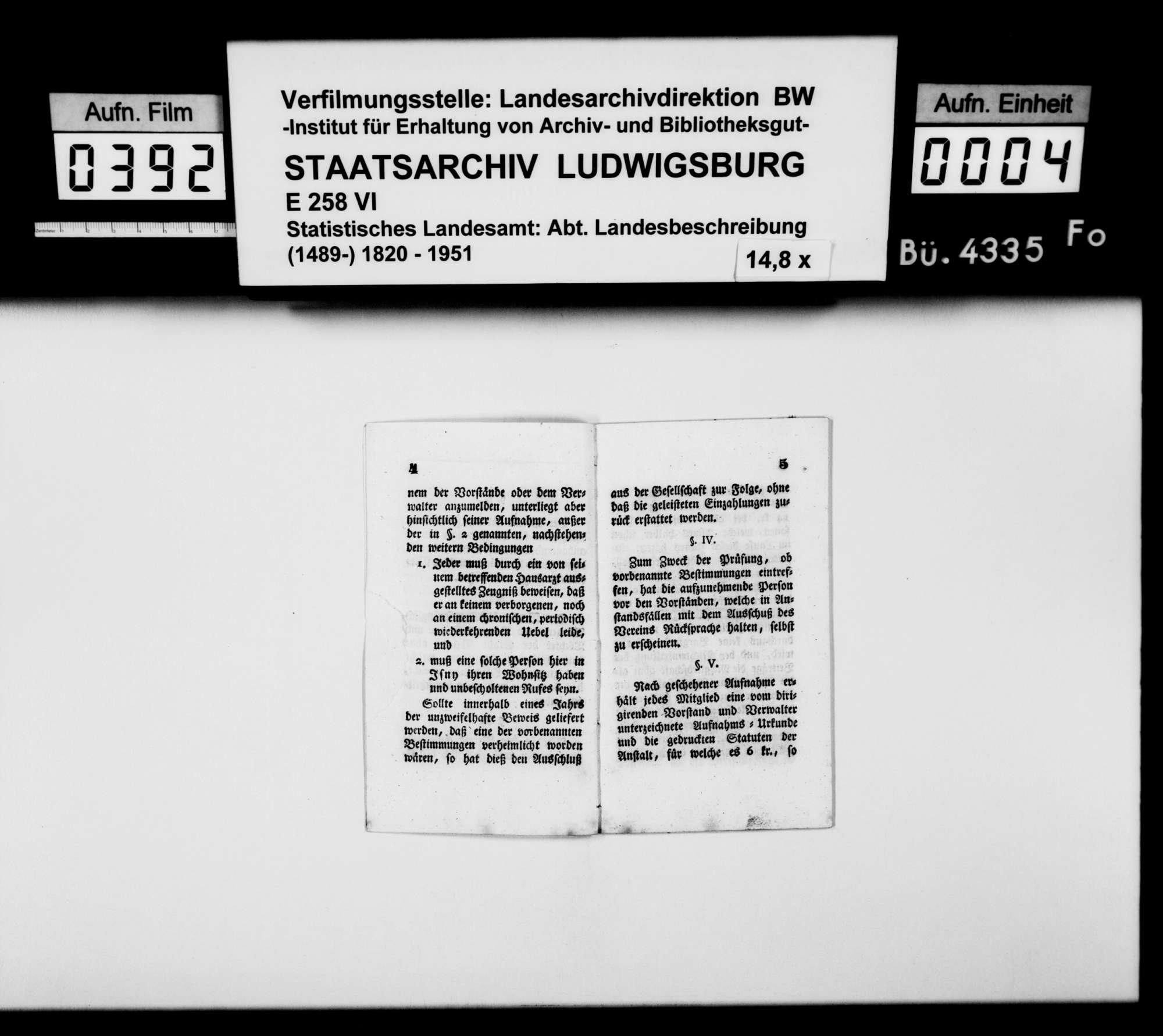 Druck: Statuten des Kranken-Vereins zu Isny, [Isny, bei] Josef Rauch, 1842, Bild 3