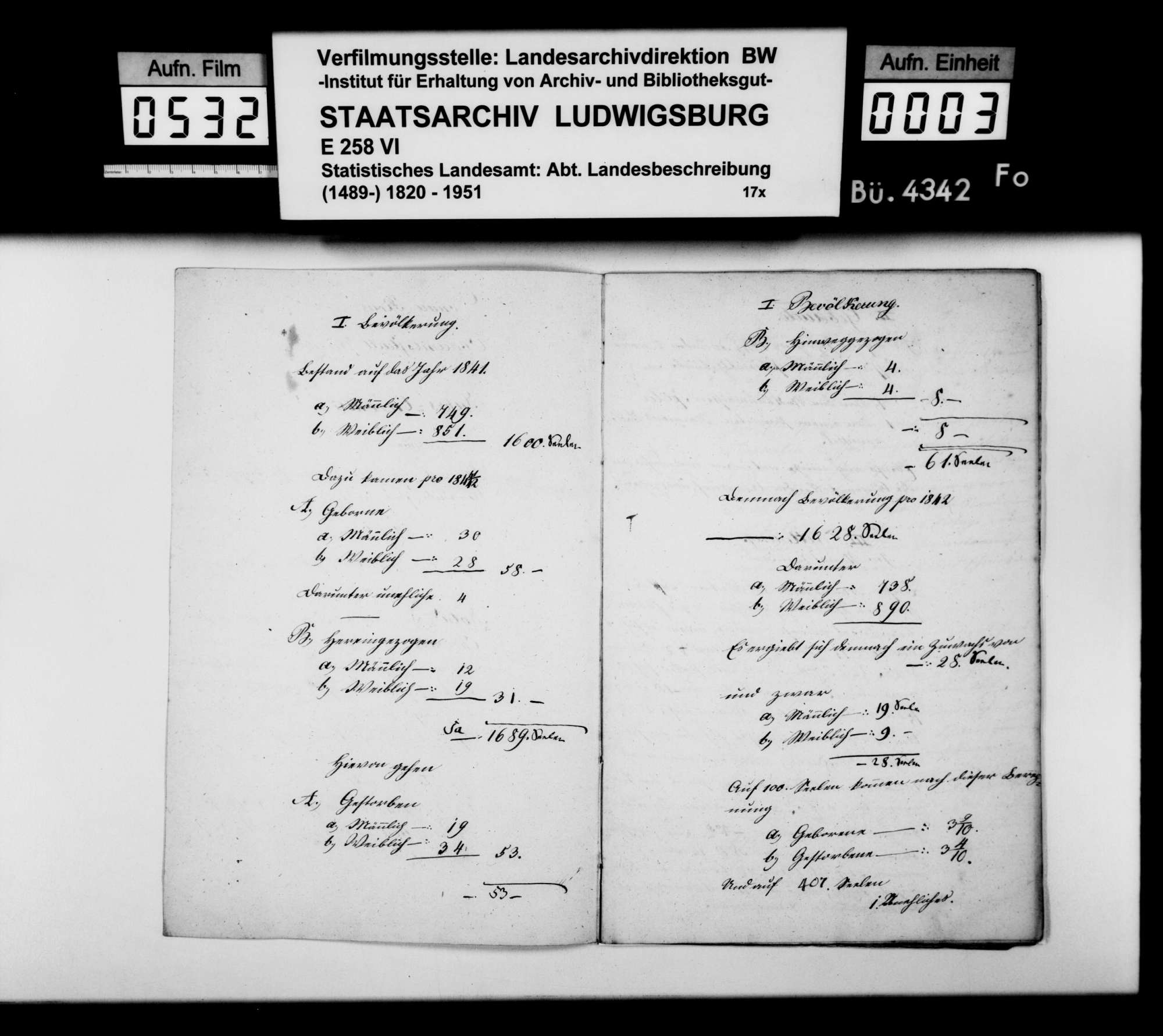 Jahreschronik der Oberamtsstadt Wangen für 1842, von Gerichtsnotar Späth, Bild 2