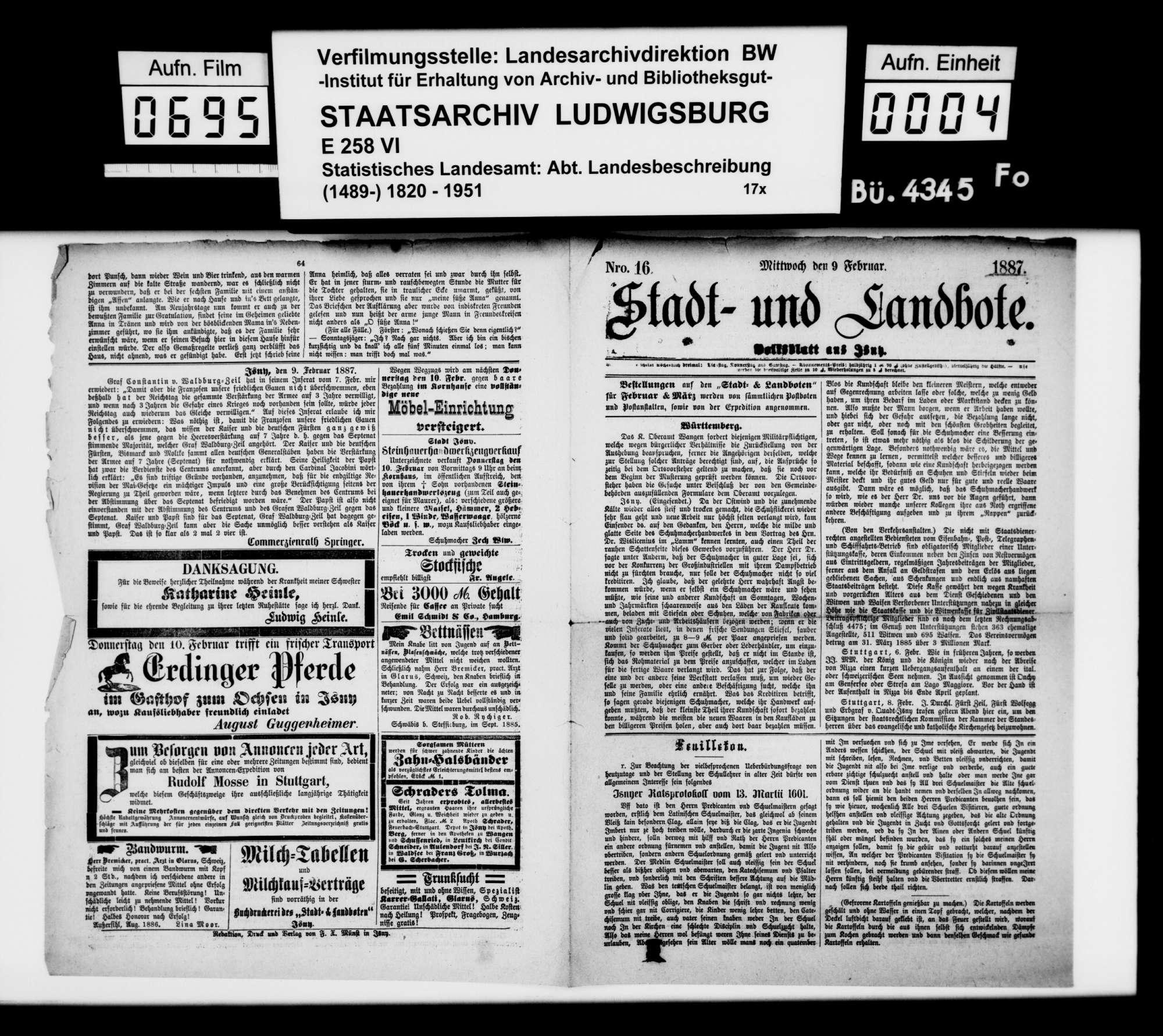 Sammlung gedruckten Materials zu einer Neubearbeitung der OAB, Bild 3