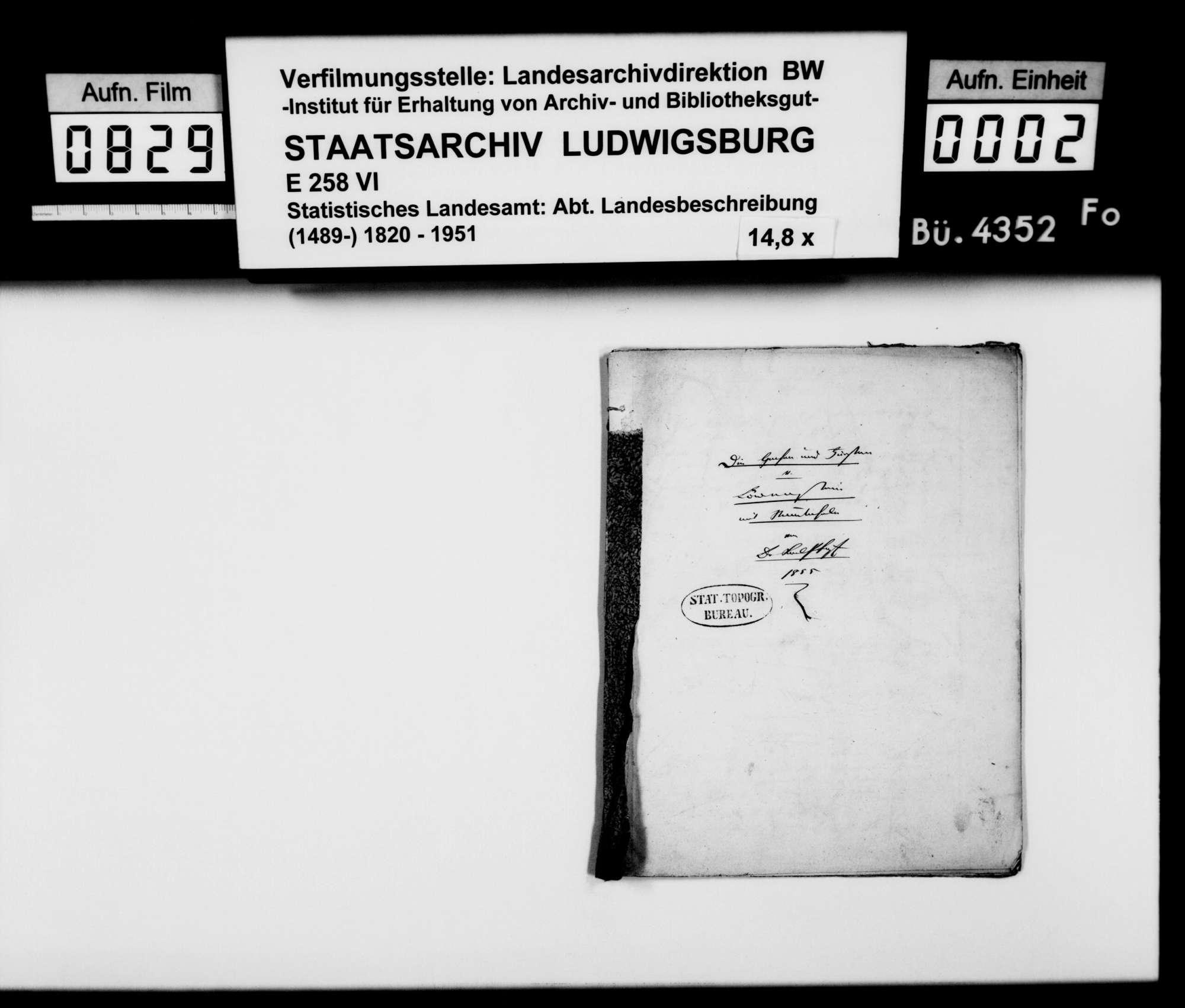 Beiträge des [Esslinger Konrektors] Karl Pfaff zur historischen Topographie des Oberamts, Bild 1