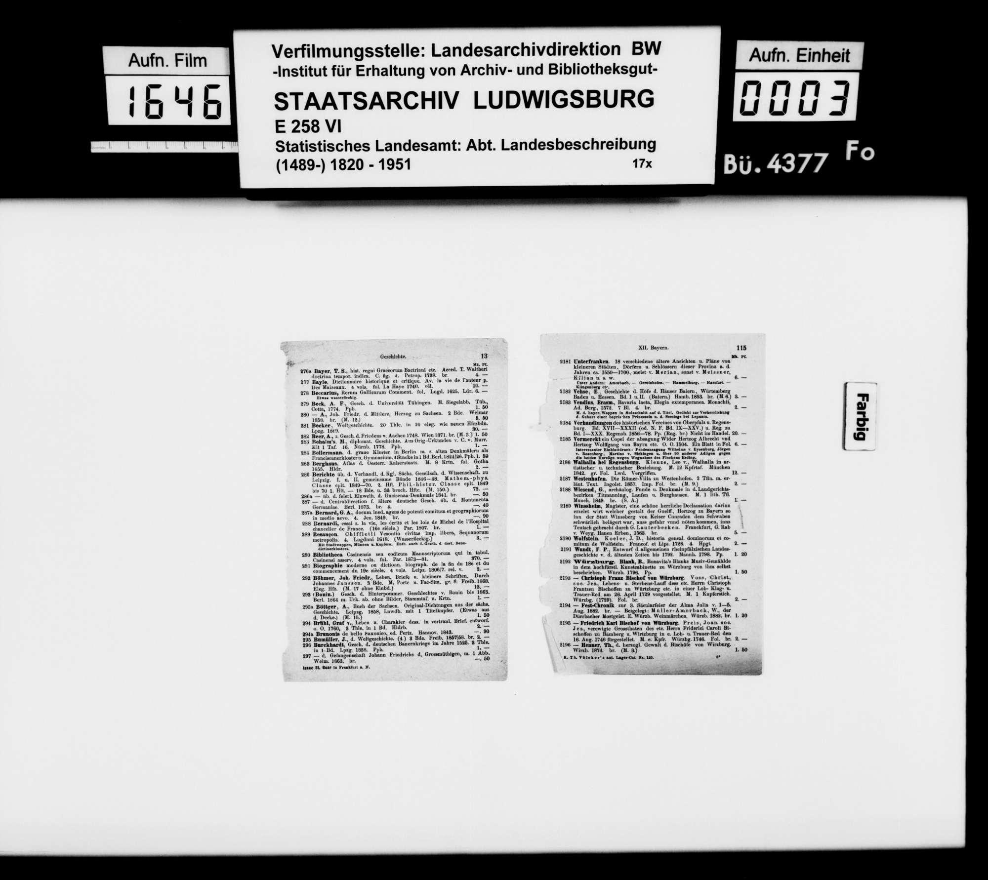 Dingliche Überreste im Oberamt aus römischer Zeit und Hochmittelalter, Bild 2