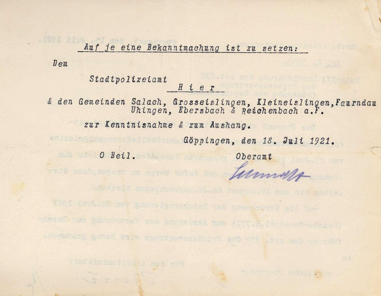 Durchführung des Art. 238 des Friedensvertrages; Rückgabe von Gegenständen; Allgemeines, Bild 3