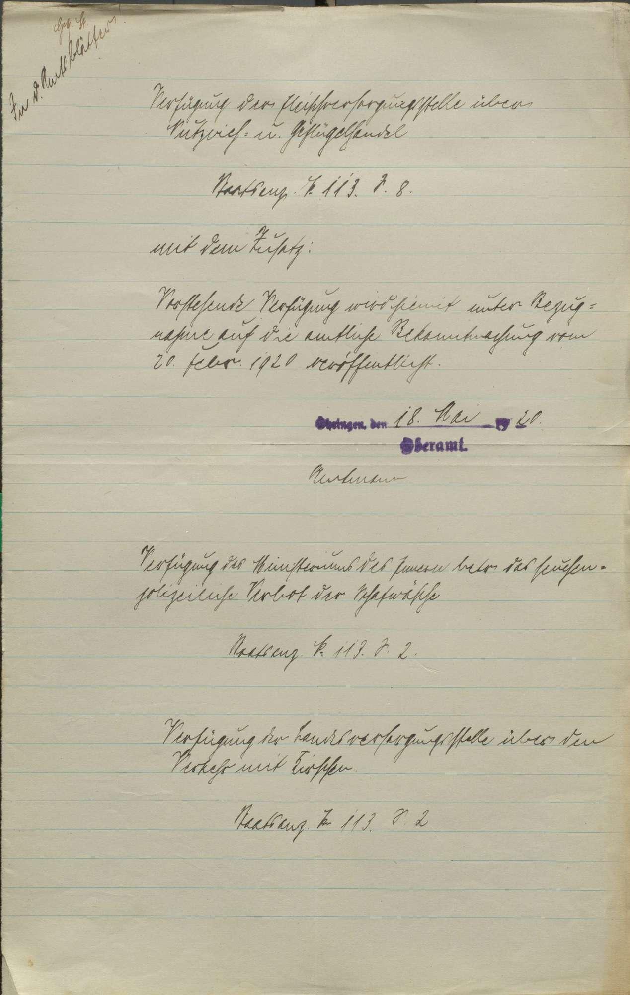 Friedensvertrag, Reparationen an Frankreich und Belgien, Ablieferung von Pferden, Schafen und Ziegen, Bild 2