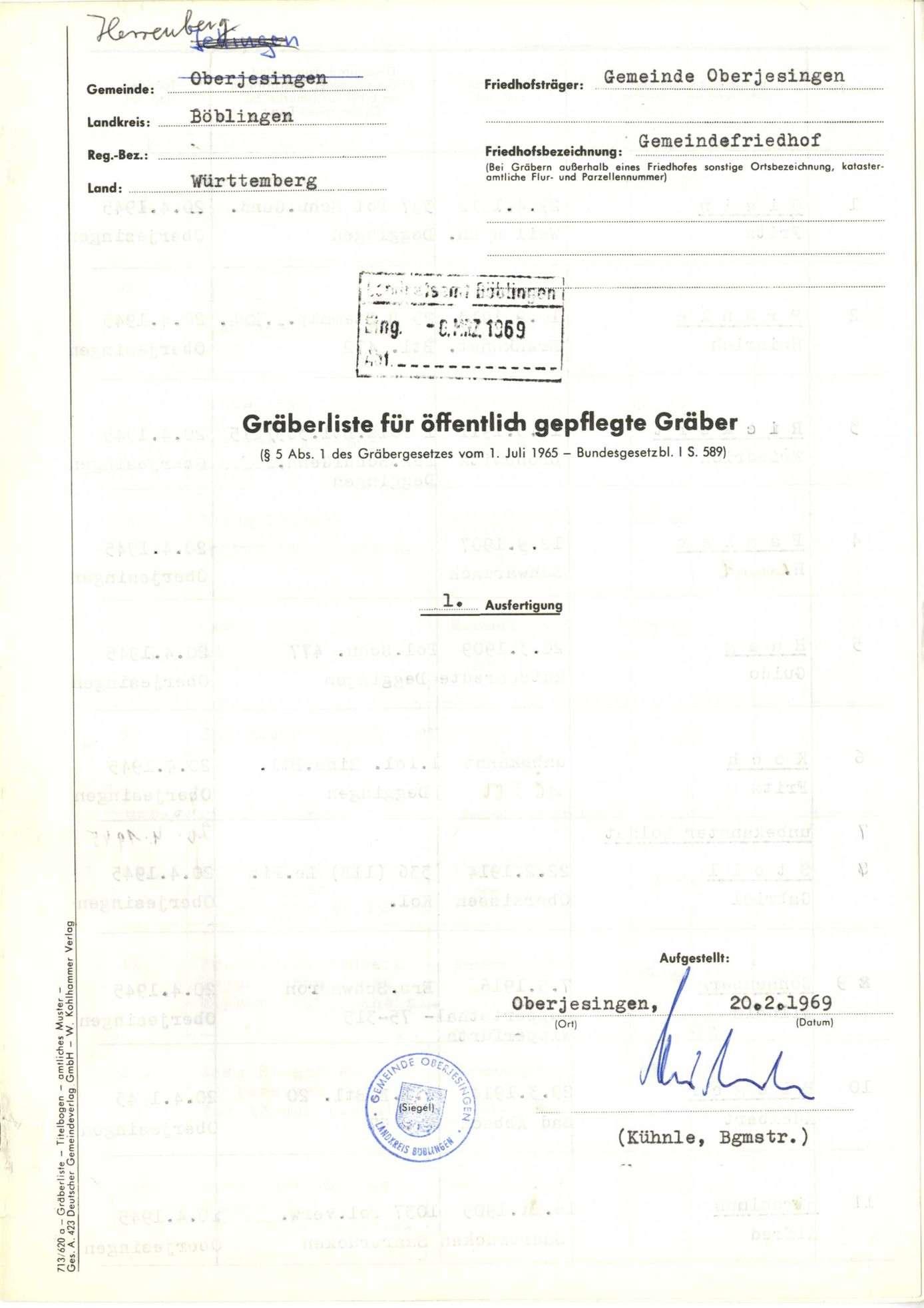 Oberjesingen, Bild 1