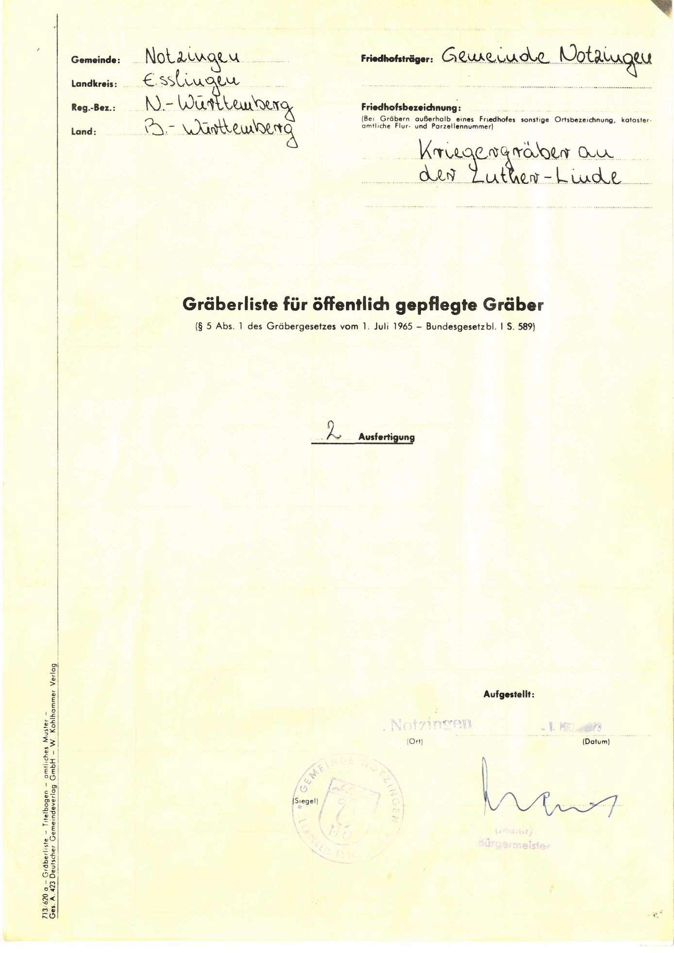 An der Lutherlinde Notzingen, Bild 1